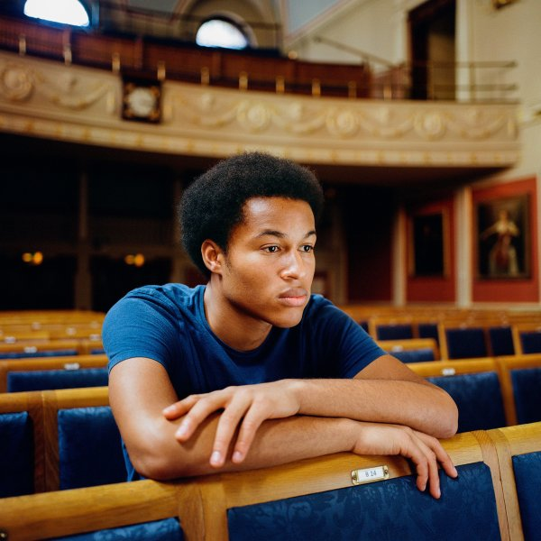 Sheku Kanneh-Mason at the Royal Academy of Music in London on September 8, 2018.