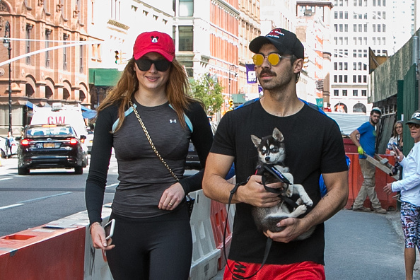Actress Sophie Turner (L) and Joe Jonas (R) are seen on September 8, 2017 in New York City.