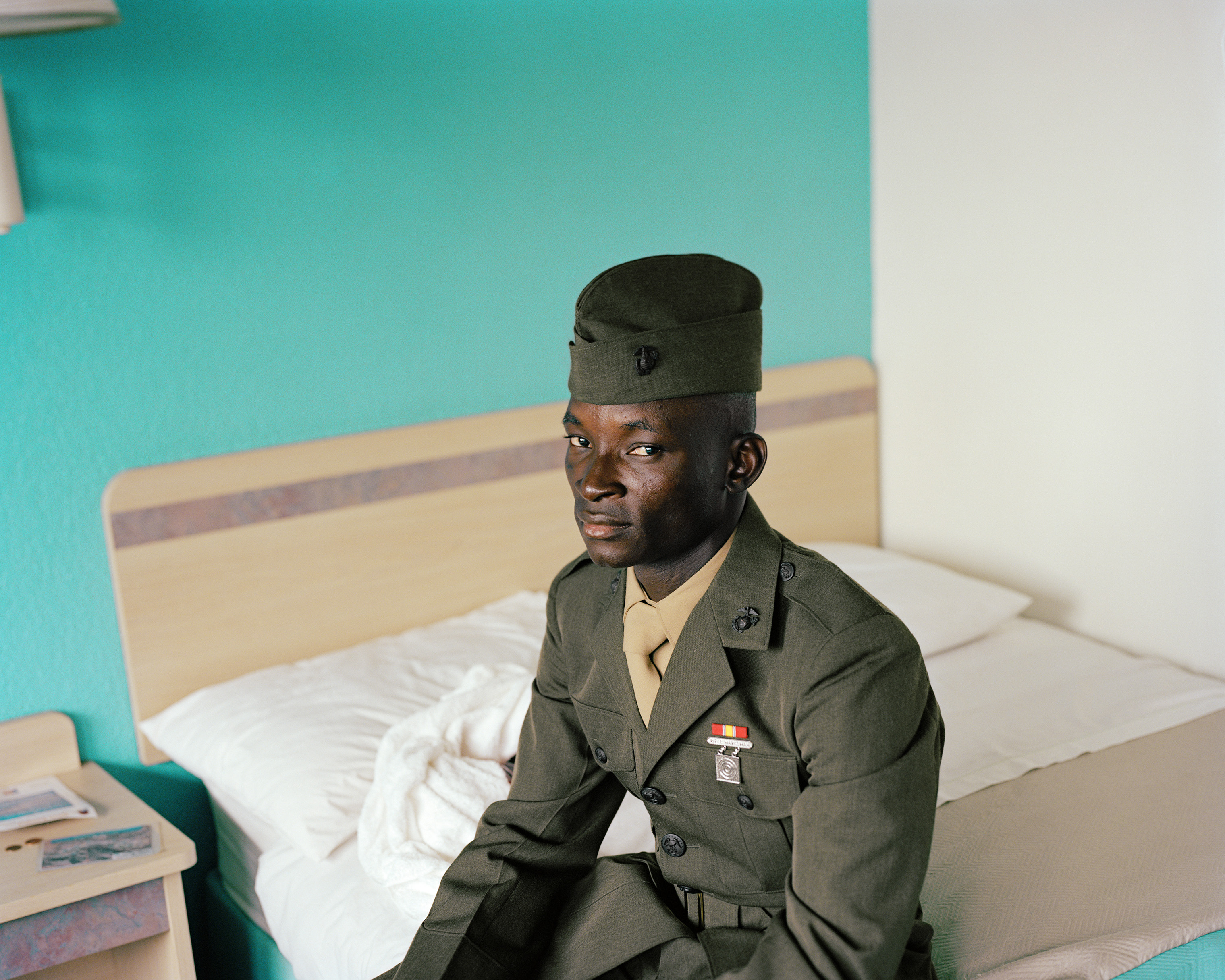 Marine, Hotel near airport, Richmond, VA, 2009, from the  By the Grace of God  series. Worsham is featured in several exhibitions, including  Southbound  at the Halsey.