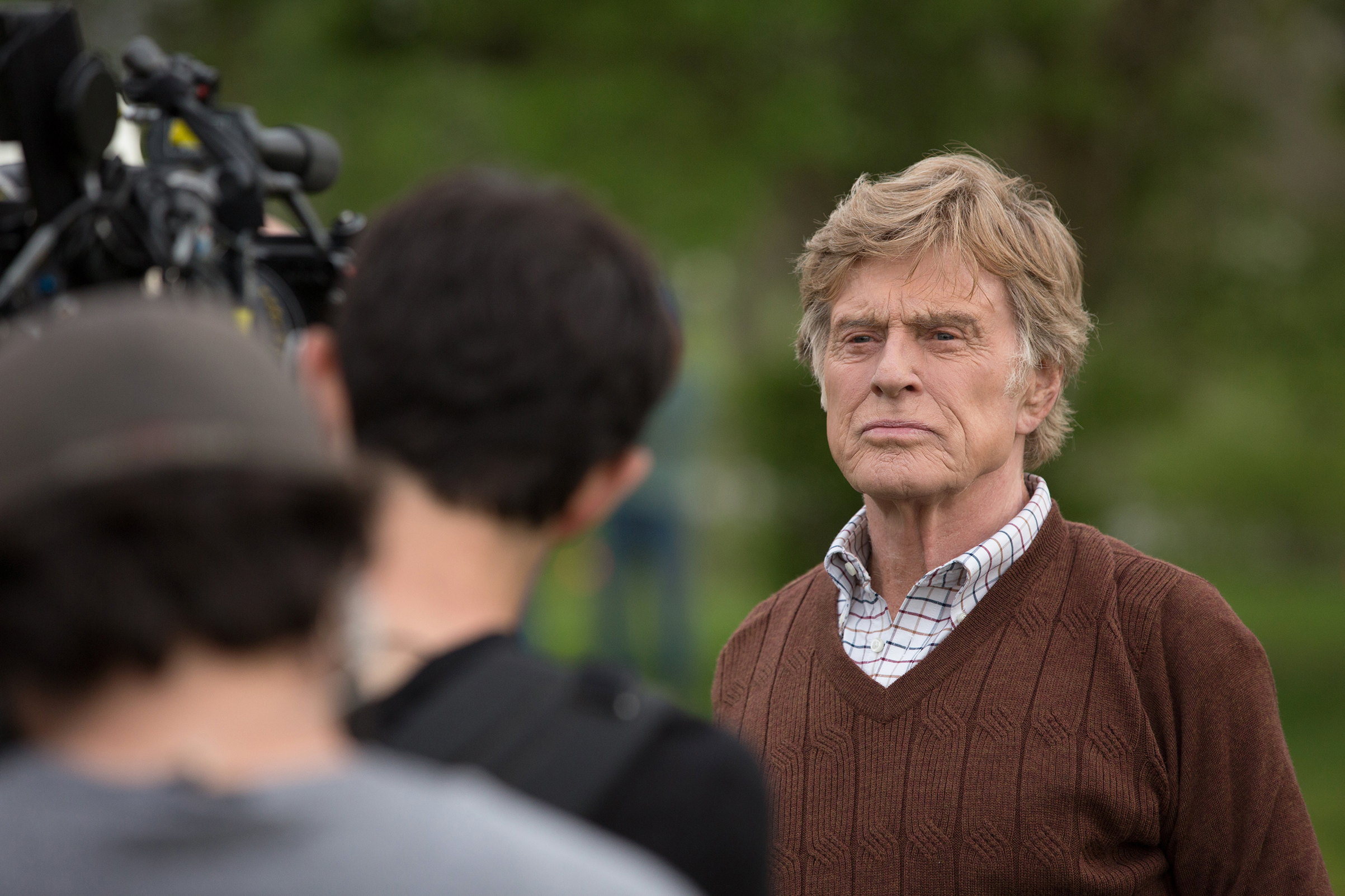 Robert Redford on the set of  The Old Man & the Gun  where he plays real-life bank robber Forrest Tucker