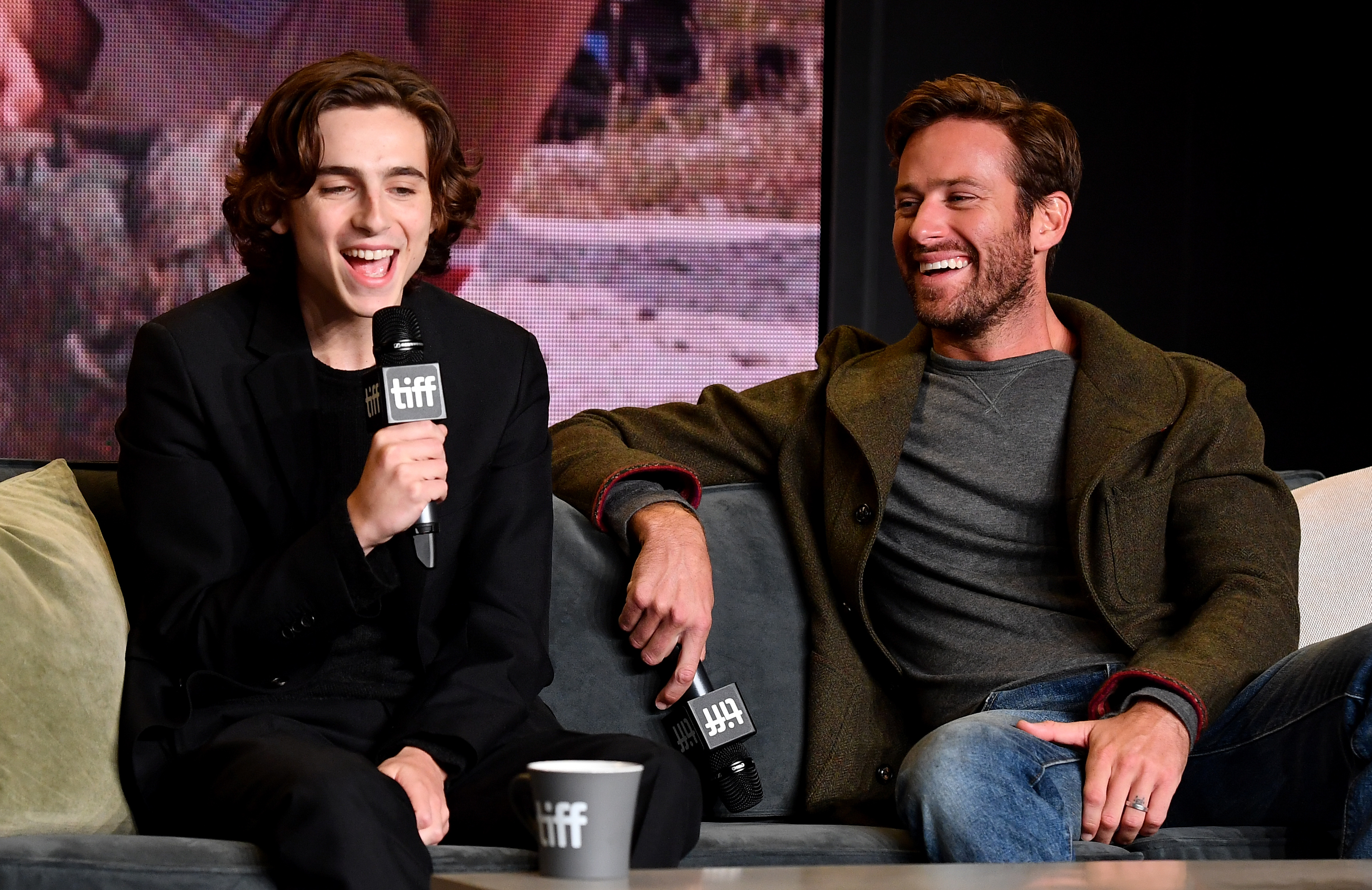 Actors Timothee Chalamet and Armie Hammer attend the  Call Me By Your Name  press conference during the 2017 Toronto International Film Festival at TIFF Bell Lightbox on September 8, 2017 in Toronto, Canada.