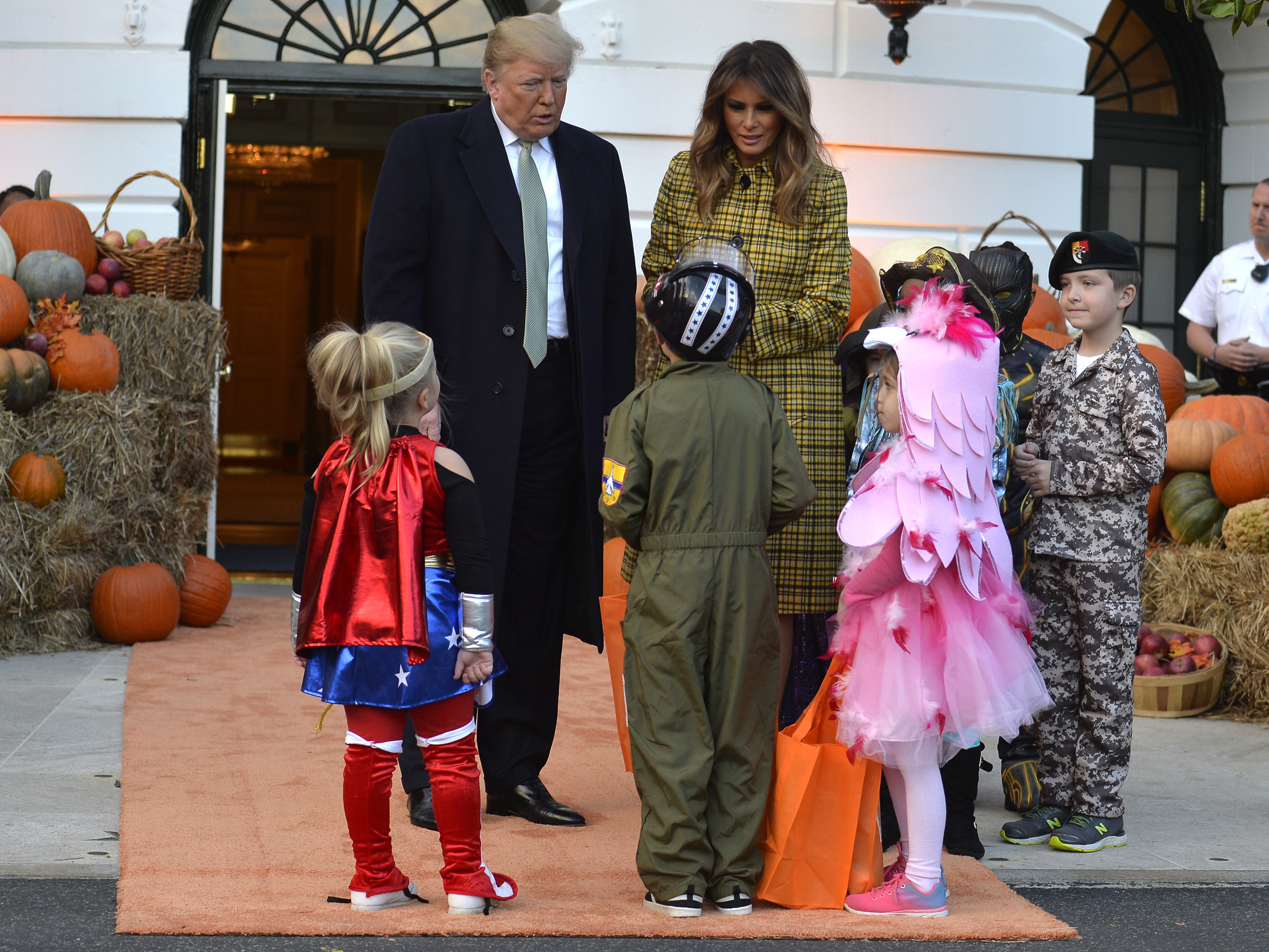 White House Welcomes Trick,or,Treaters for Halloween 2018