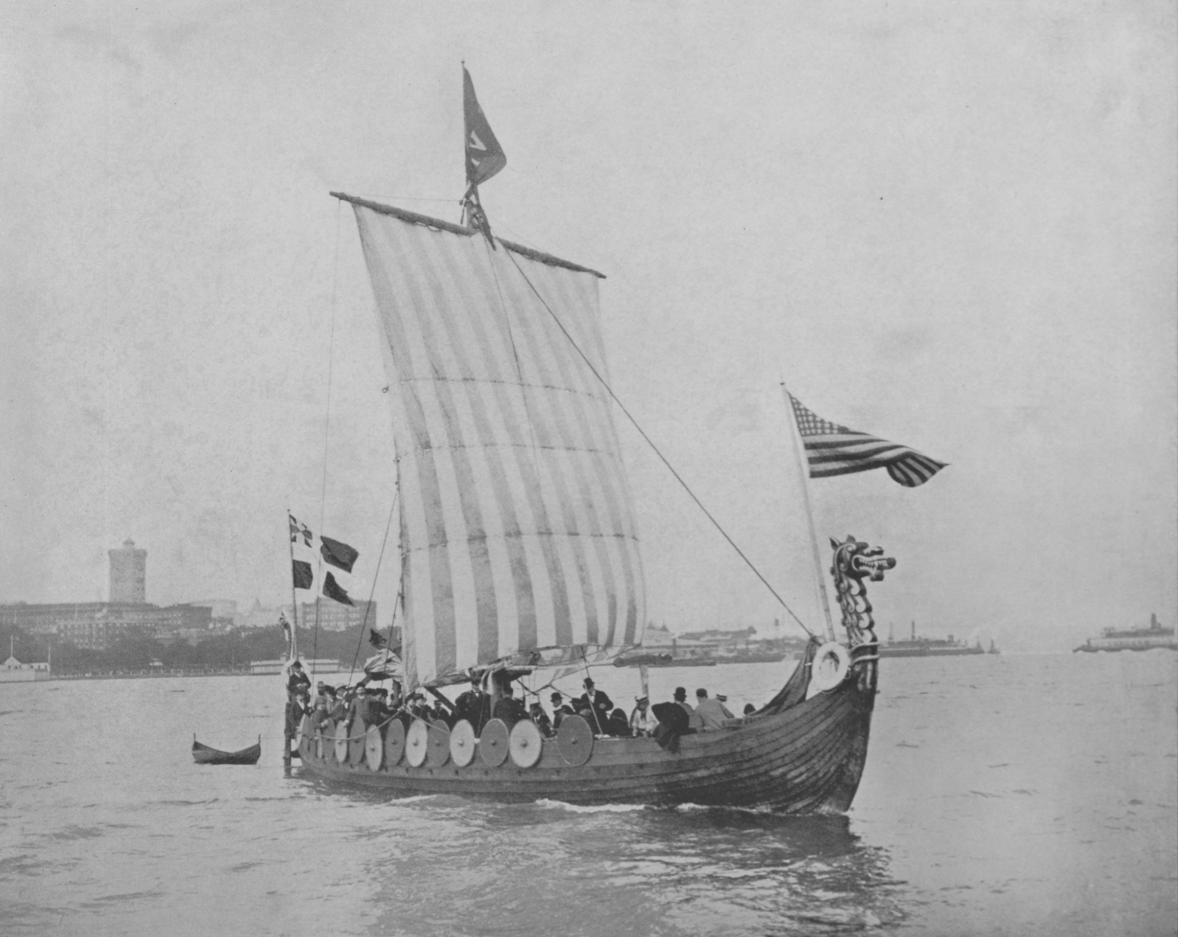 The Viking ship that sailed from Norway to  the World's Columbian Exposition (World's Fair) in 1893.