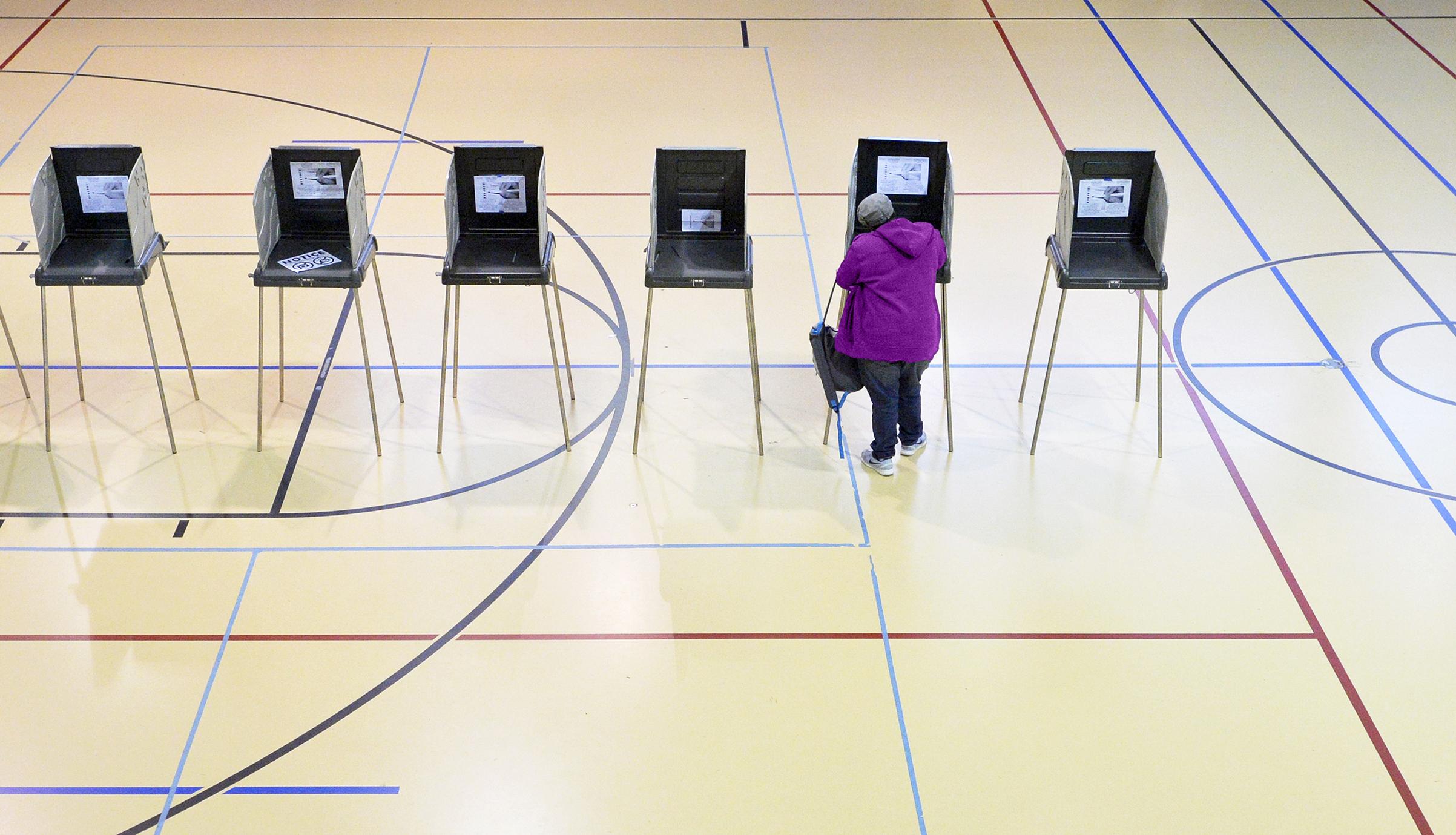 A woman votes on Nov.8, 2016, in Durham, N.C.