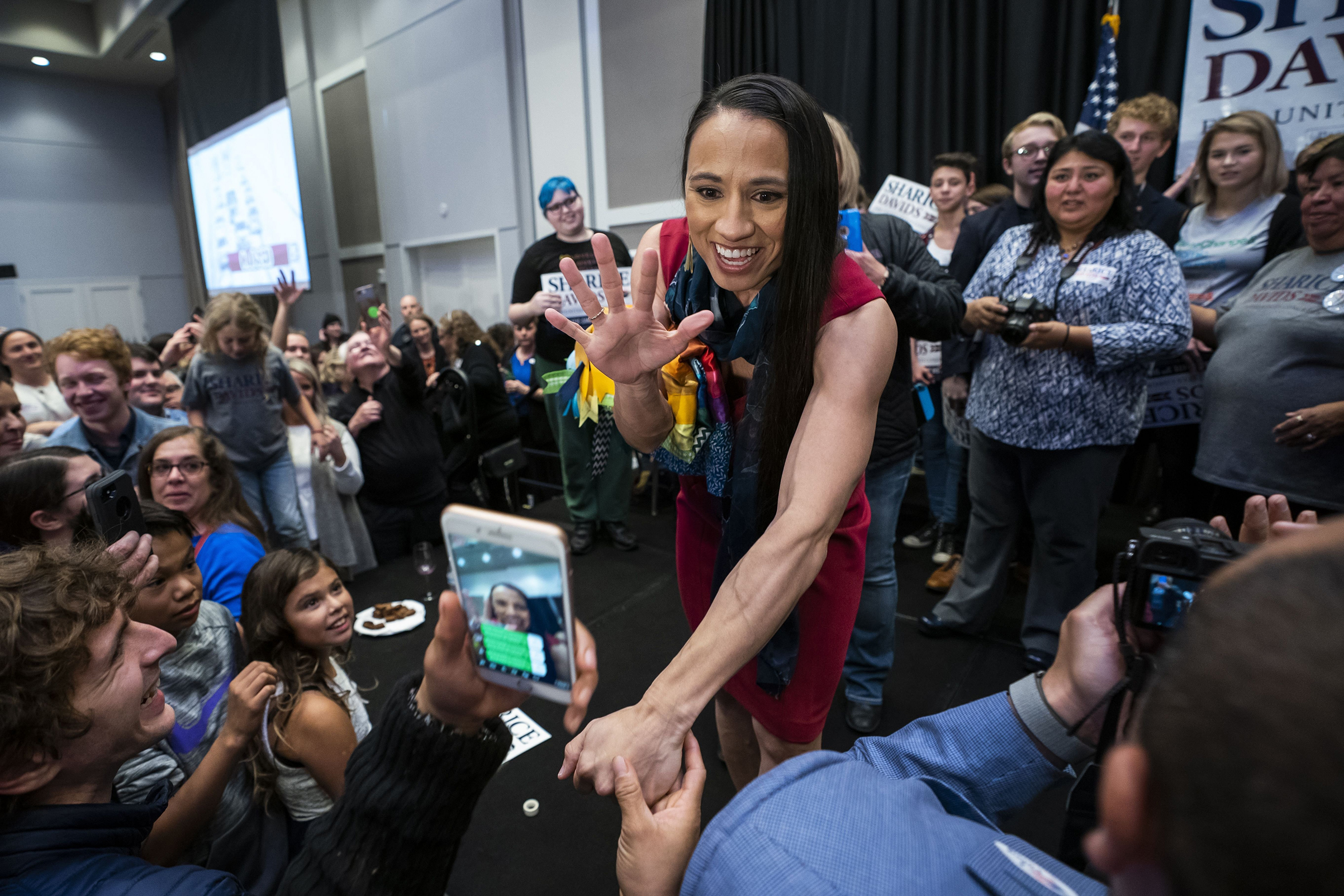 Sharice Davids, 38, will be one of the first Native American women in Congress