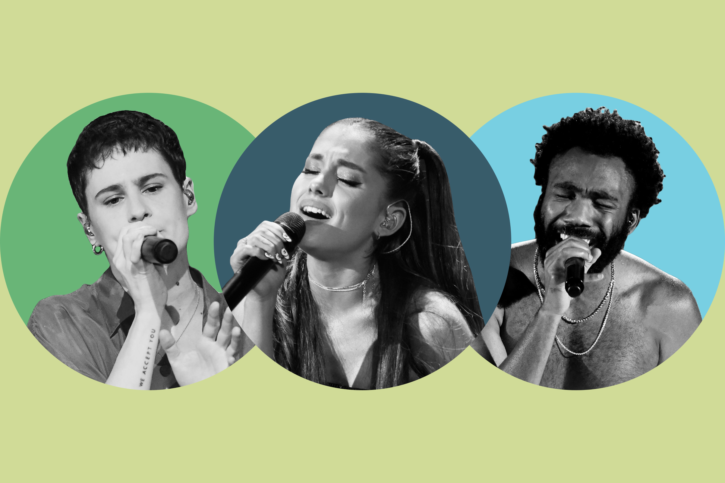 Christine and the Queens; Ariana Grande; Childish Gambino