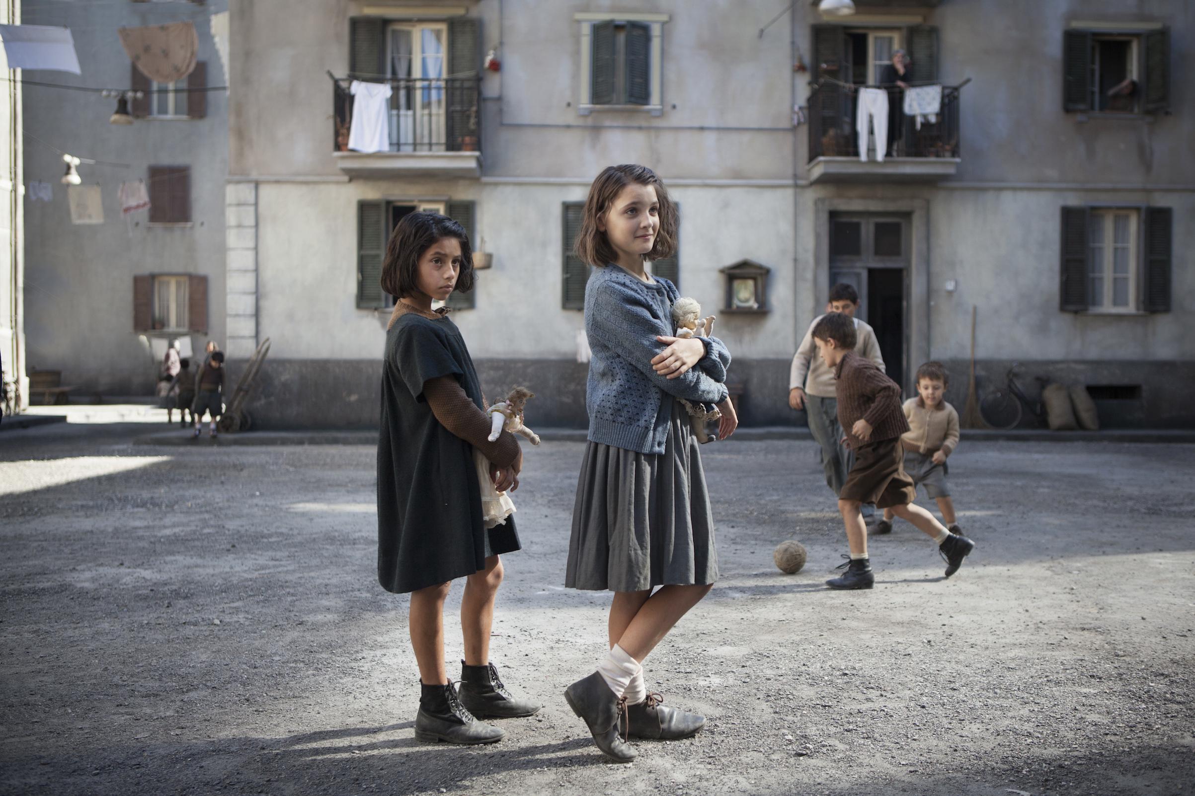 Ludovica Nasti and Elisa Del Genio in the first episode of HBO's 'My Brilliant Friend'