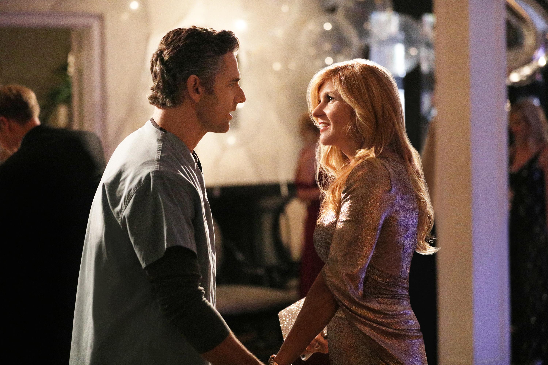 Eric Bana as John Meehan and Connie Britton as Debra Newell in Bravo's 'Dirty John.'