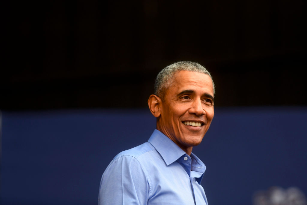 SEPT 21:  Former President Barack Obama speaks during a campaign rally
