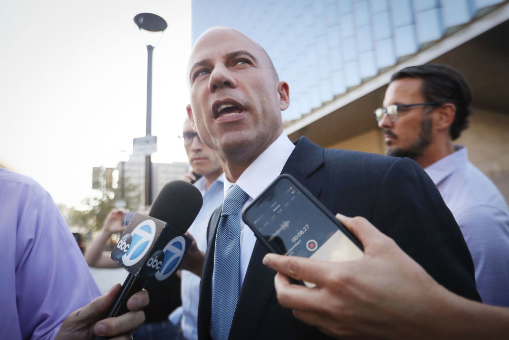 Michael Avenatti, attorney for Stephanie Clifford, also known as adult film actress Stormy Daniels, speaks to reporters as he leaves the U.S. District Court for the Central District of California on September 24, 2018 in Los Angeles, California.