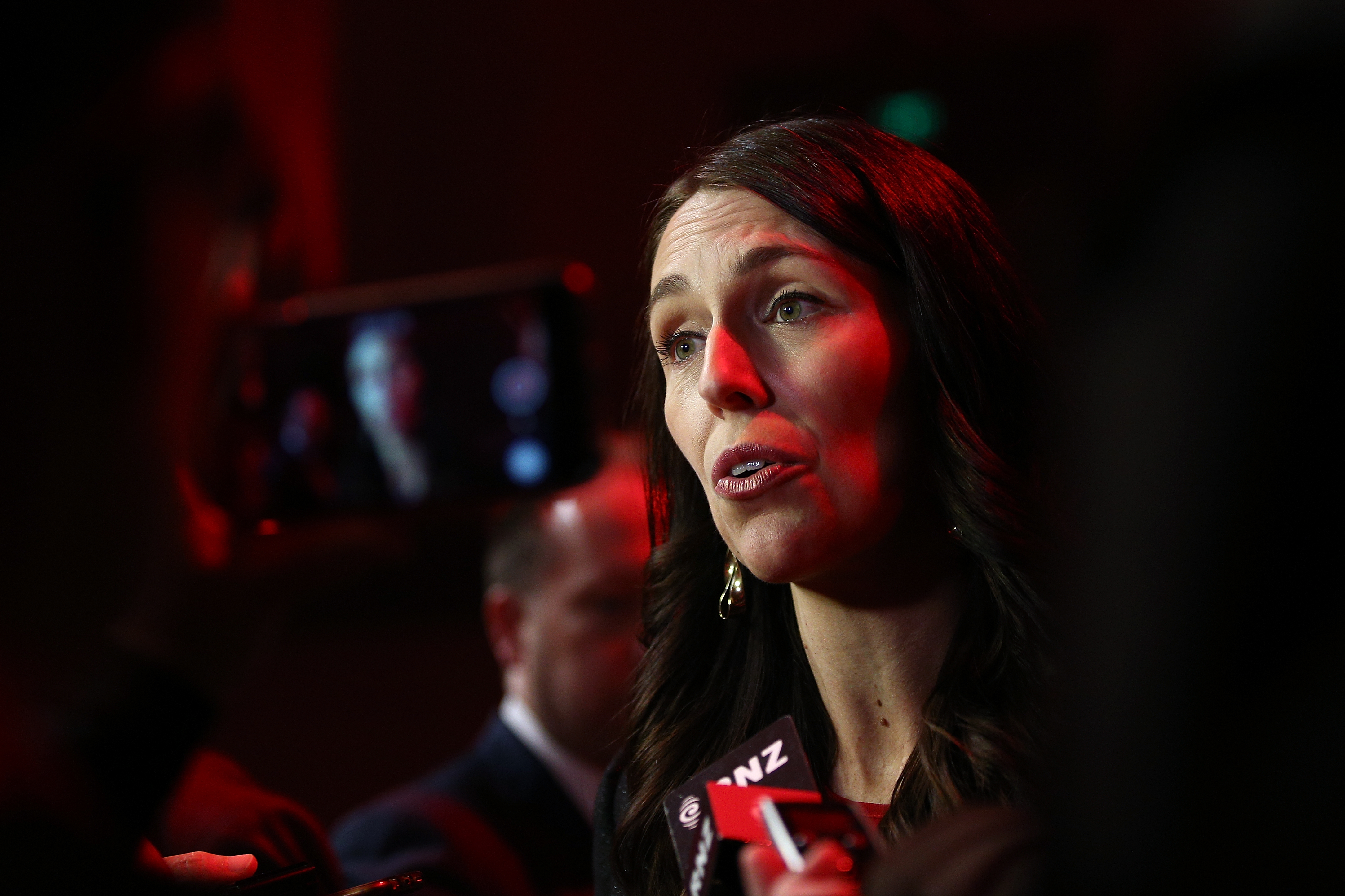 Prime Minister Jacinda Ardern speaks with media after the Labour Party Conference on November 4, 2018 in Dunedin, New Zealand.