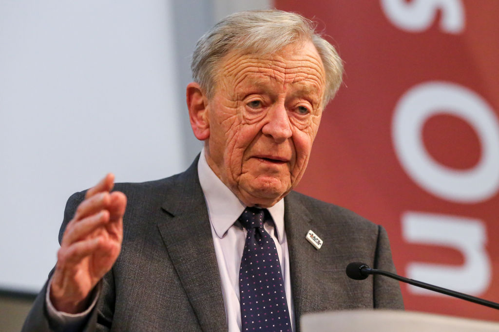 NOV 15: Lord Alf Dubs speaking at the the 80th anniversary commemoration of the Kindertransport, at Friends House in London.