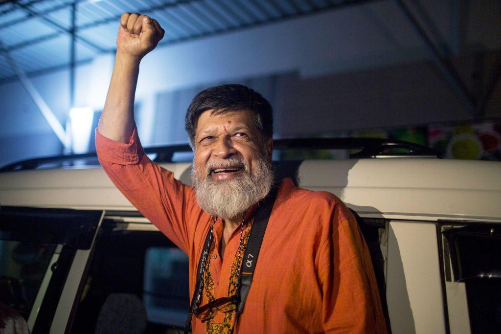 Bangladeshi photographer and activist Shahidul Alam was released from Dhaka Central Jail, Keraniganj, near Dhaka, on Nov. 20, 2018.