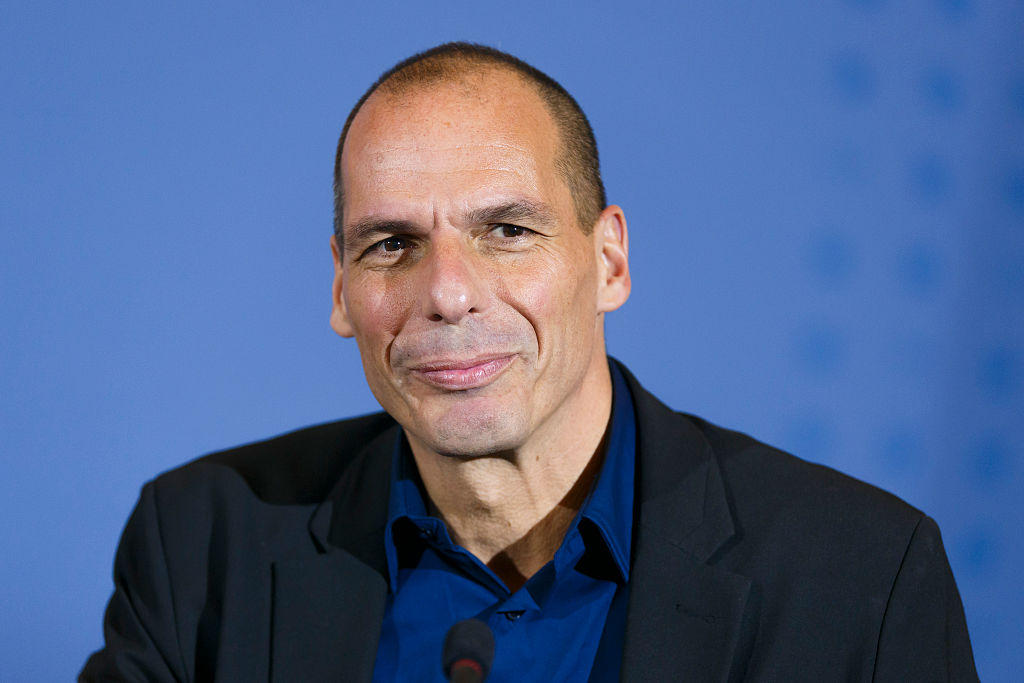 FEB 05, 2014: Yanis Varoufakis, when he was Greek Finance Minister, following talks in Berlin