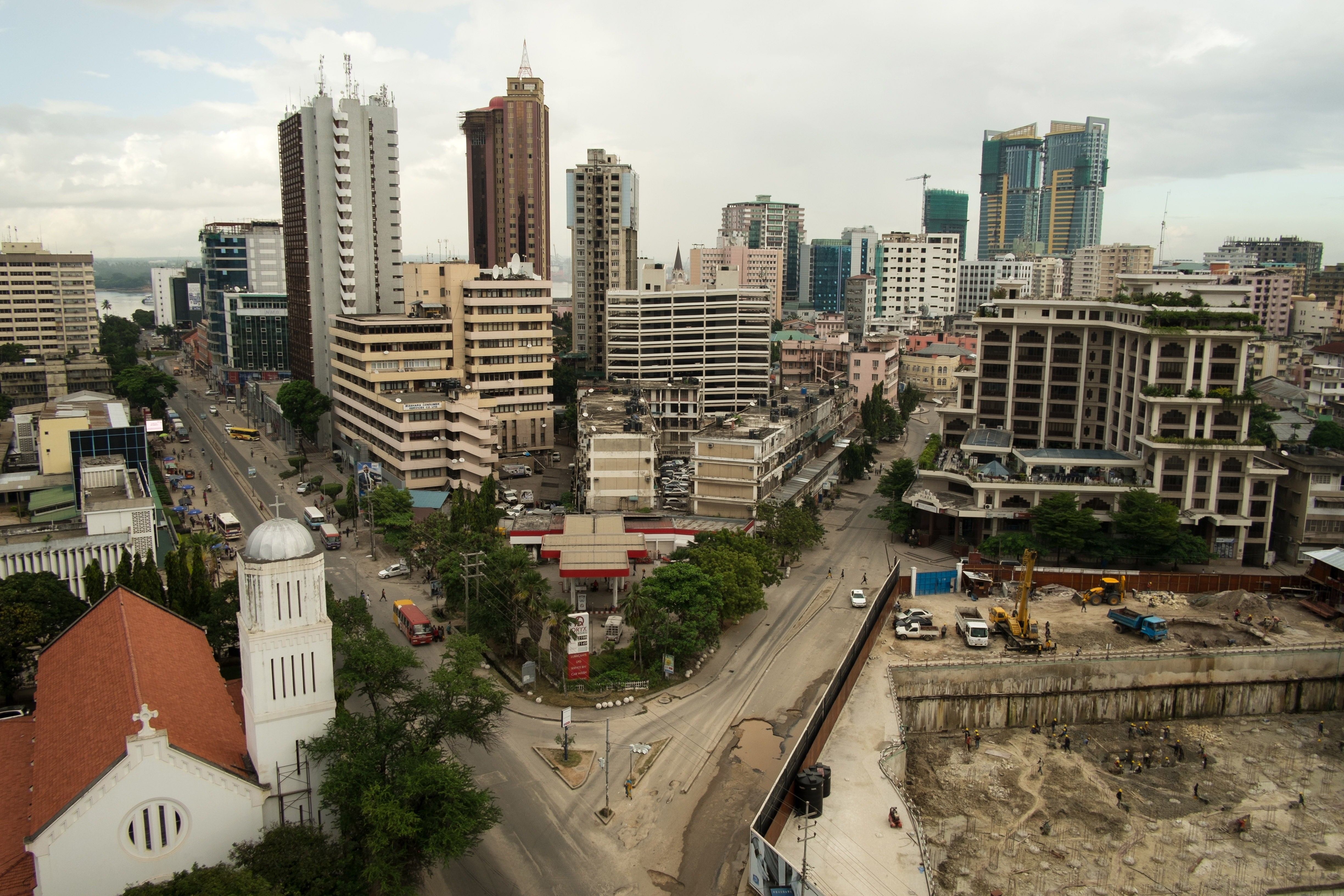 A view shows central Dar es Salaam, Tanzania.
