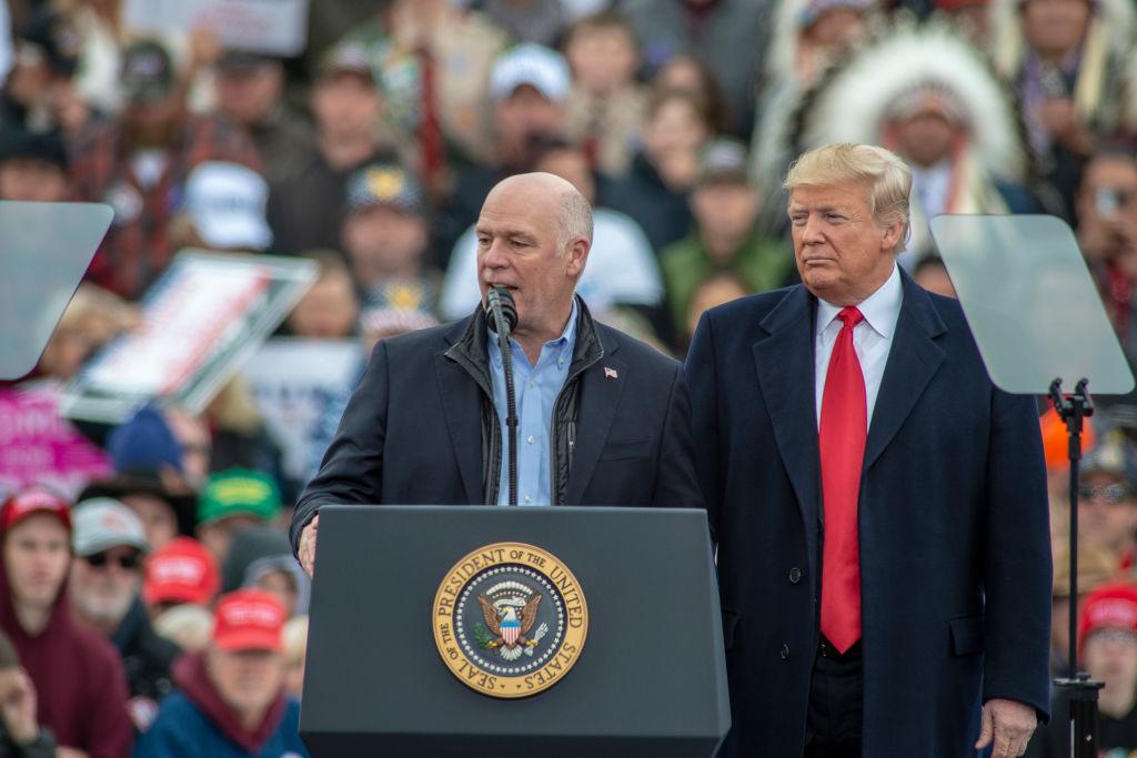 Donald Trump Holds MAGA Rally with Rep. Greg Gianforte