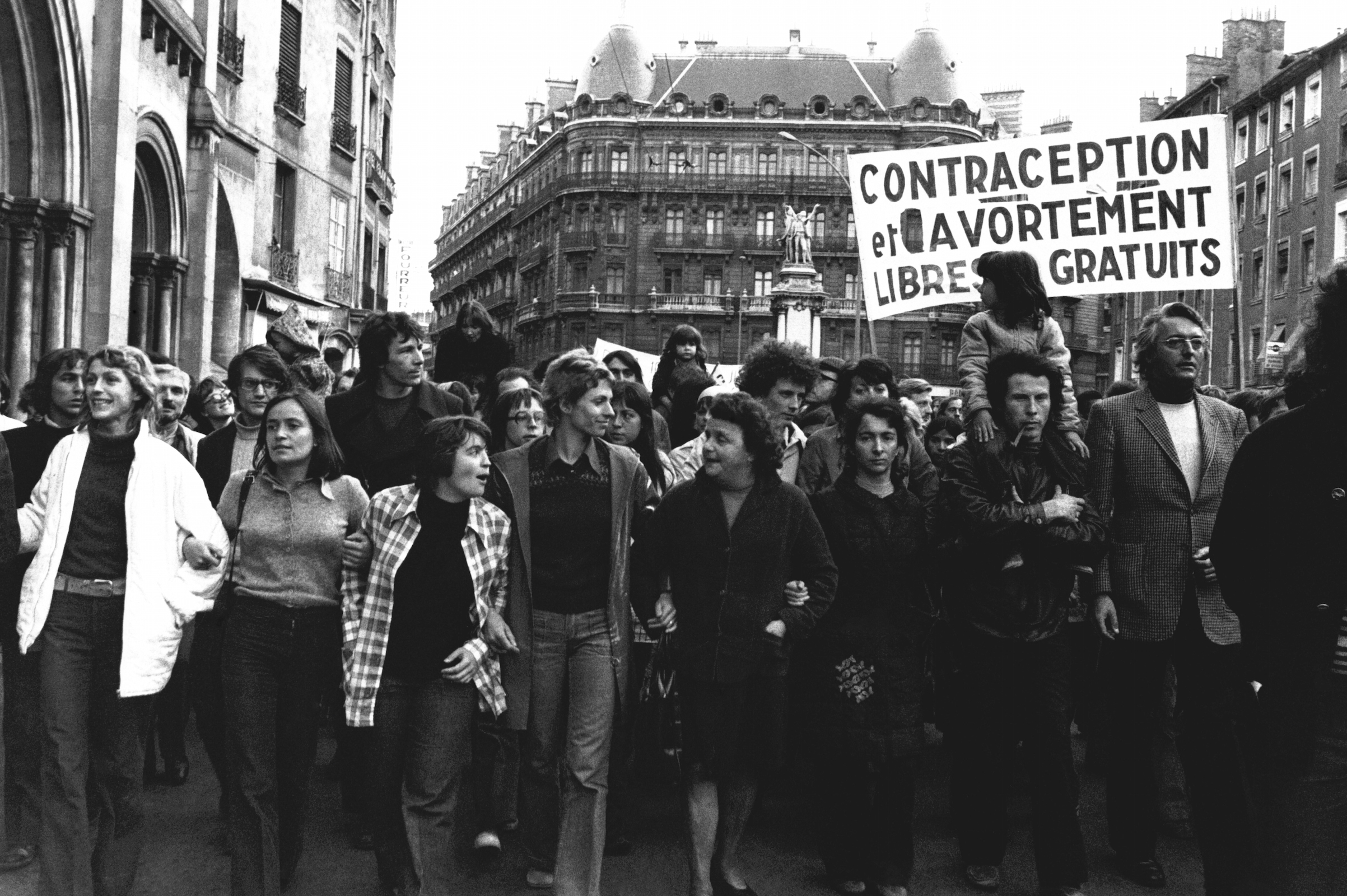 An abortion-rights protest in Grenoble, France, on May 11, 1973.