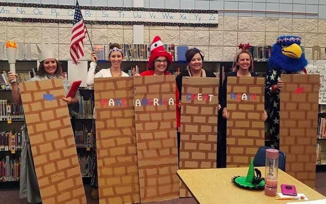 Middleton Heights Elementary School teachers are under fire for their Mexican Border inspired costumes.