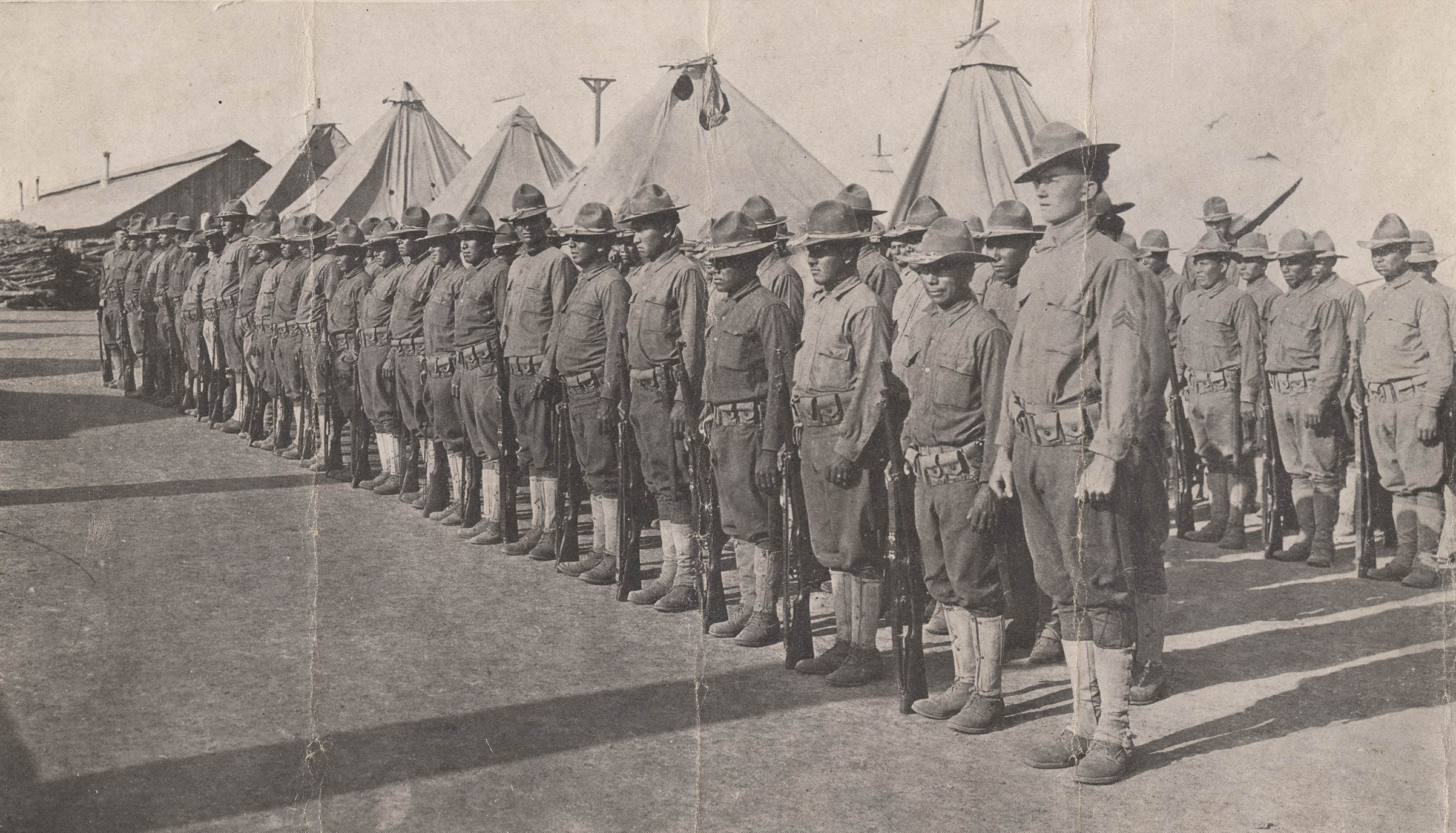 The American Indians who served with Company E, 142nd Infantry, 36th Division, during World War I were some of the nation's first  code-talkers