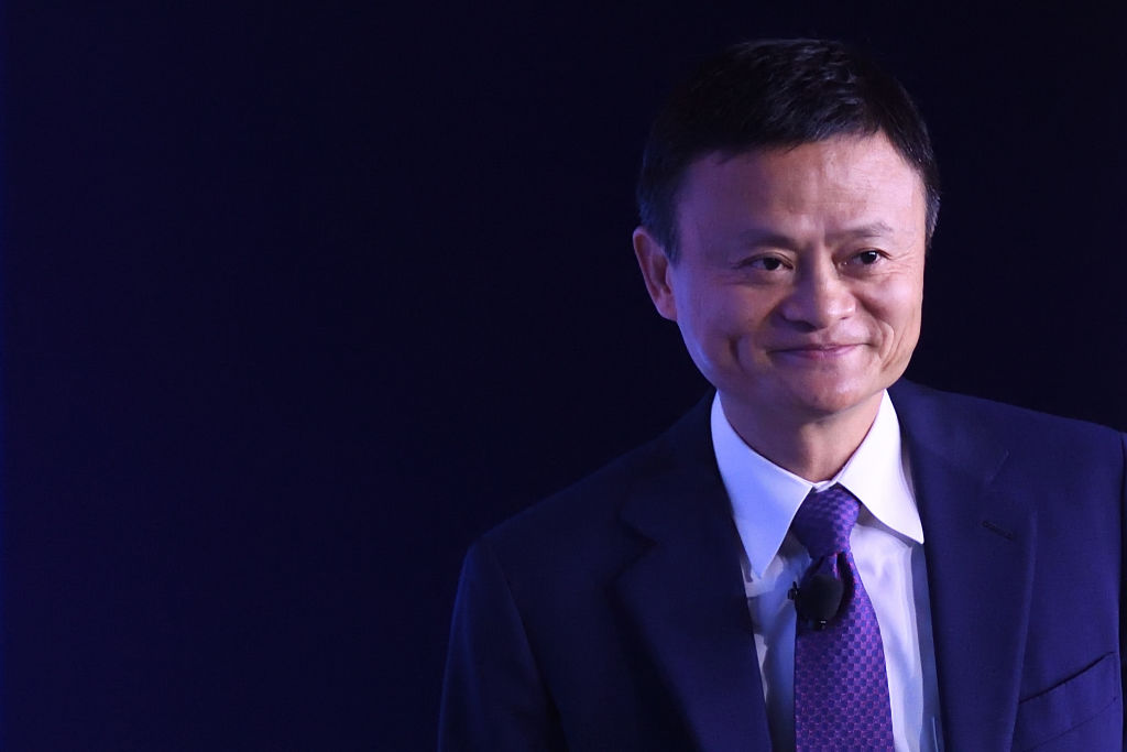 TIANJIN, CHINA - SEPTEMBER 20: Alibaba Chairman Jack Ma attends the 'An Insight, An Idea with Jack Ma' session as part of the World Economic Forum Annual Meeting of the New Champions 2018 (12th Summer Davos Forum) at the Meijiang Convention and Exhibition Center on September 20, 2018 in Tianjin, China. The World Economic Forum Annual Meeting of the New Champions 2018 is held on September 18-20 in Tianjin.