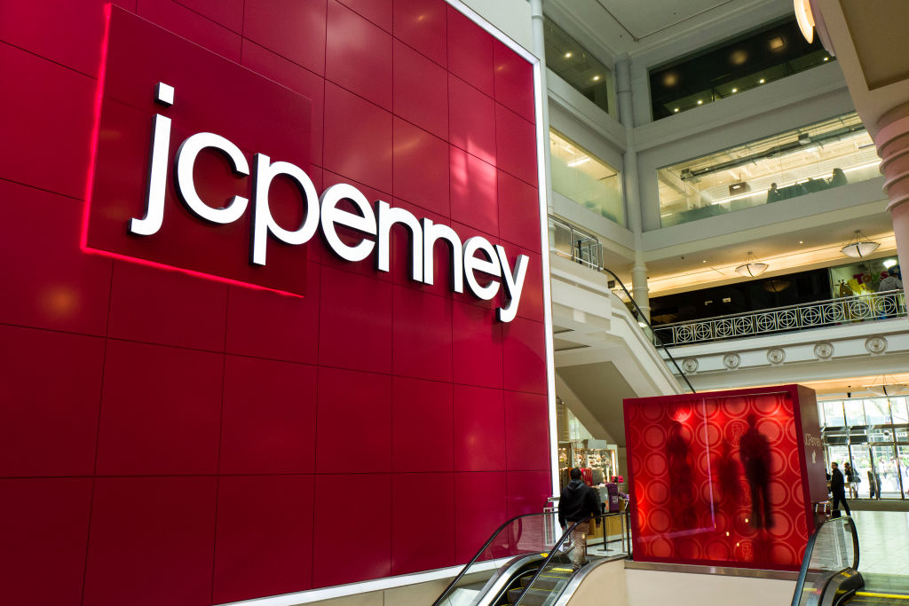 Entrance of a JC Penney department store inside the Manhattan Mall in Herald Square in New York City.