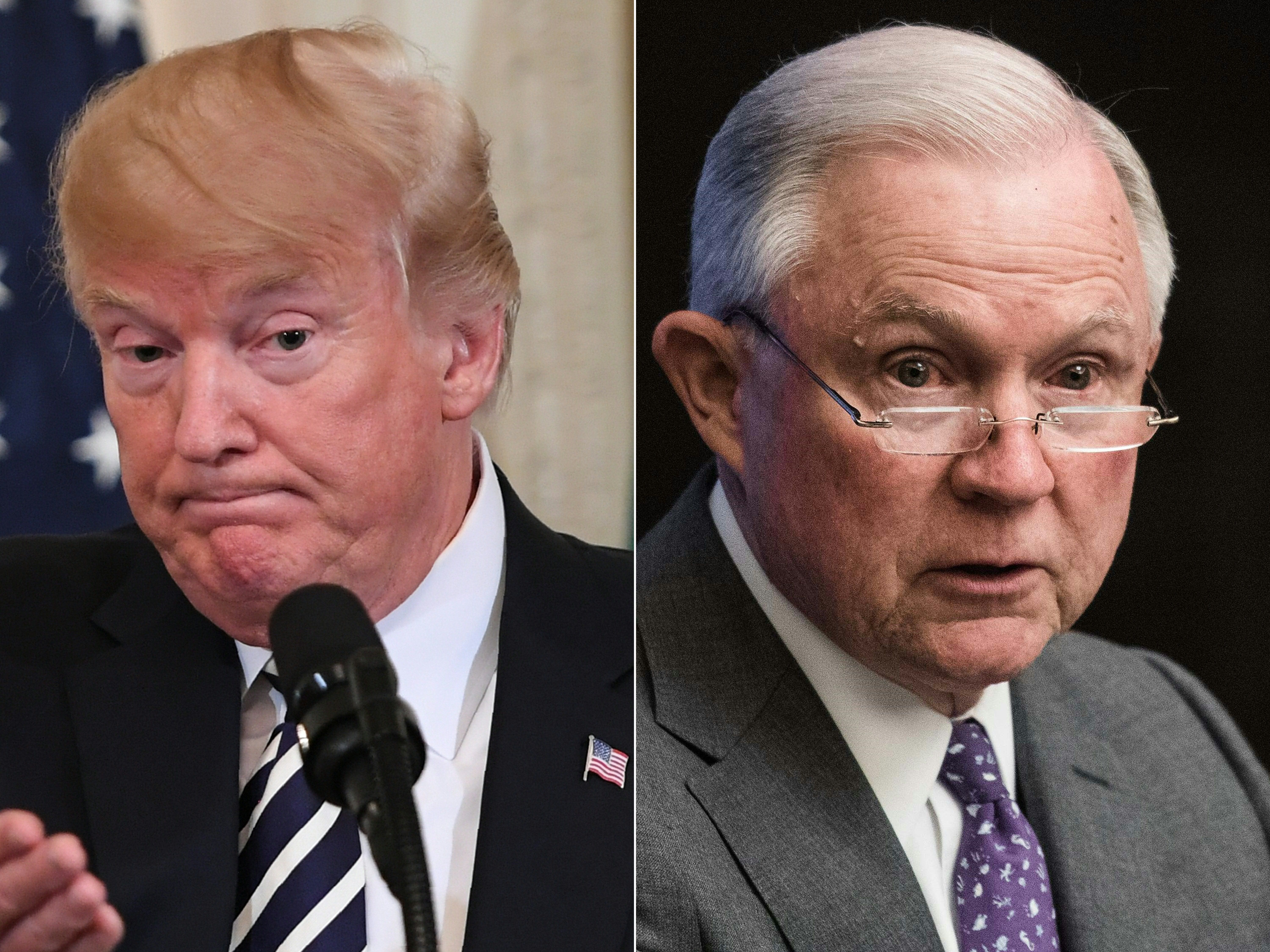 President Donald Trump announced Wednesday that Jeff Sessions resigned as U.S. attorney general