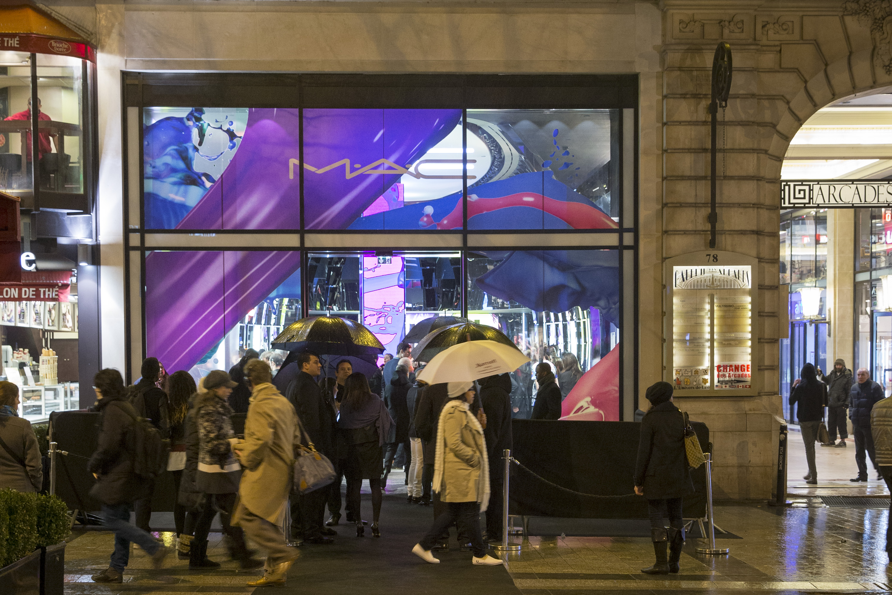 MAC Cosmetics flagship store during the MAC Cosmetics Champs Elysees Opening Party in Paris, France.