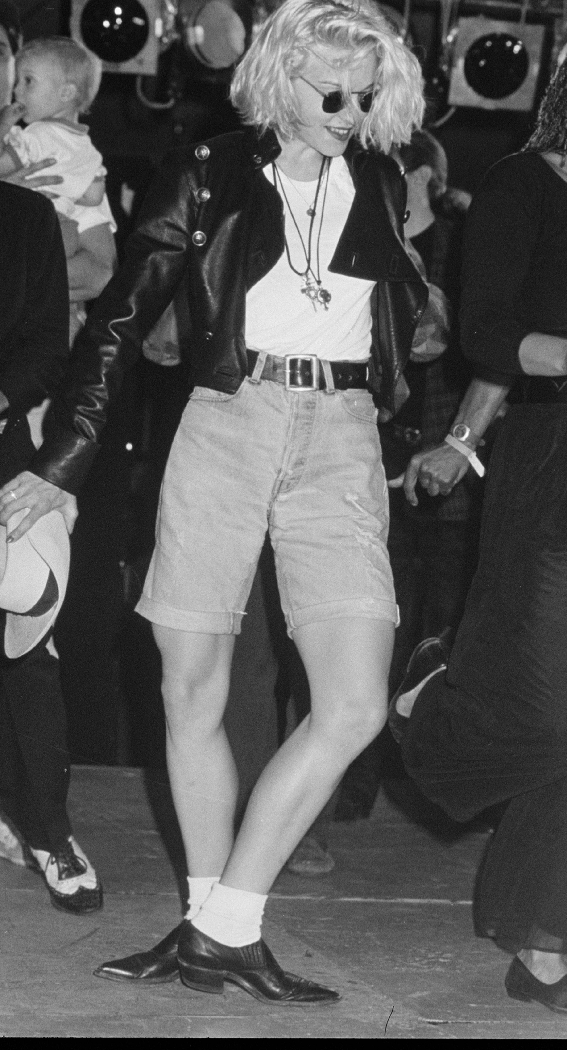 Madonna at an AIDS Dance-A-Thon in Feb. 1989