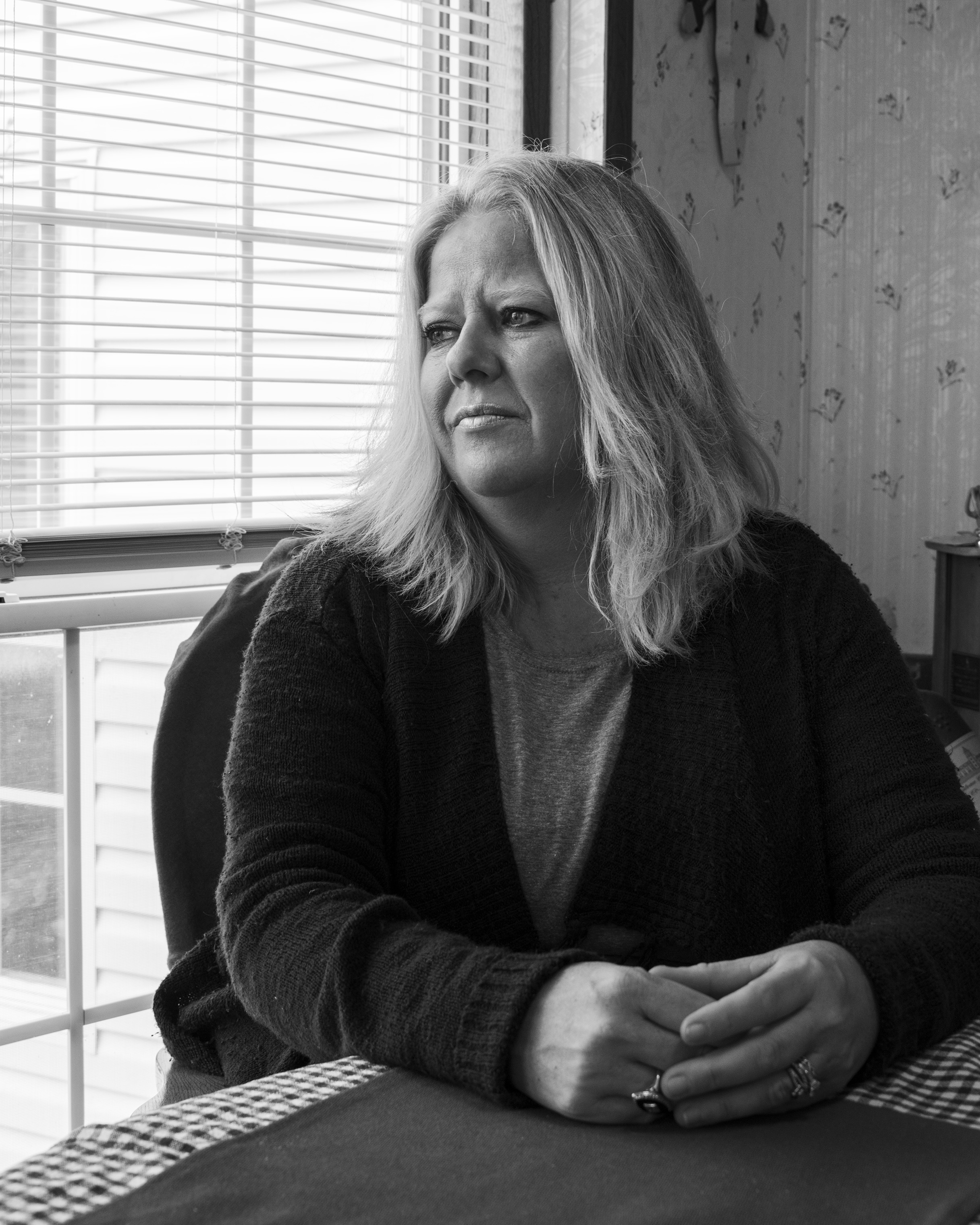 Maribeth Sheedy inside her home in the Akron Manufactured Home Community