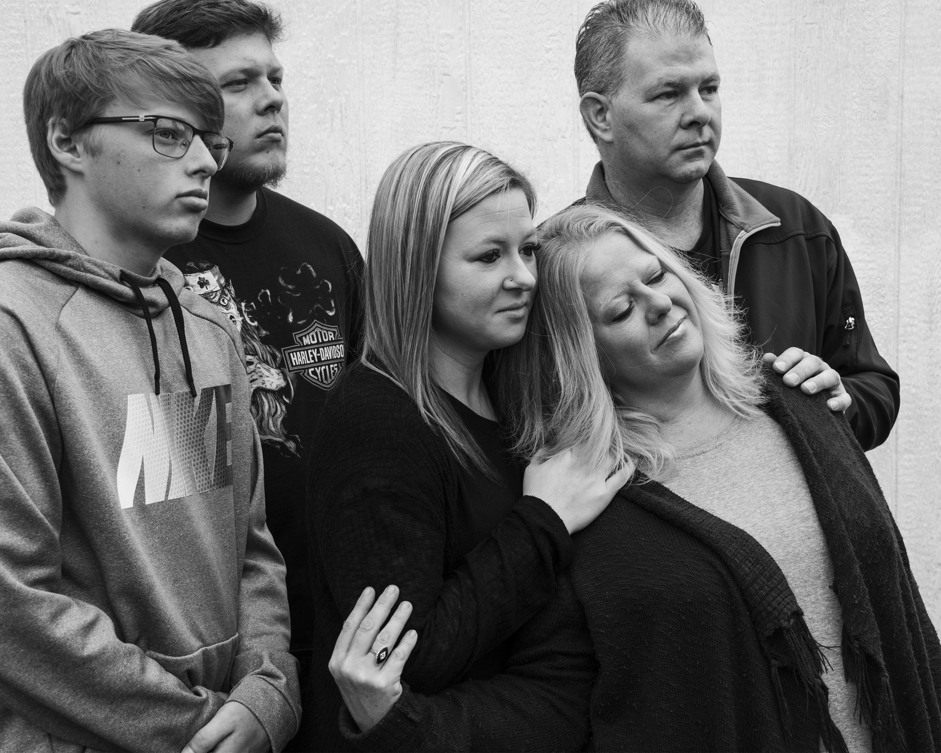 Maribeth Sheedy with her husband Shawn and children Jake, Zak, and Jessica.