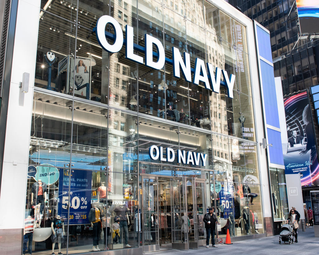 Old Navy store in Times Square in New York City.