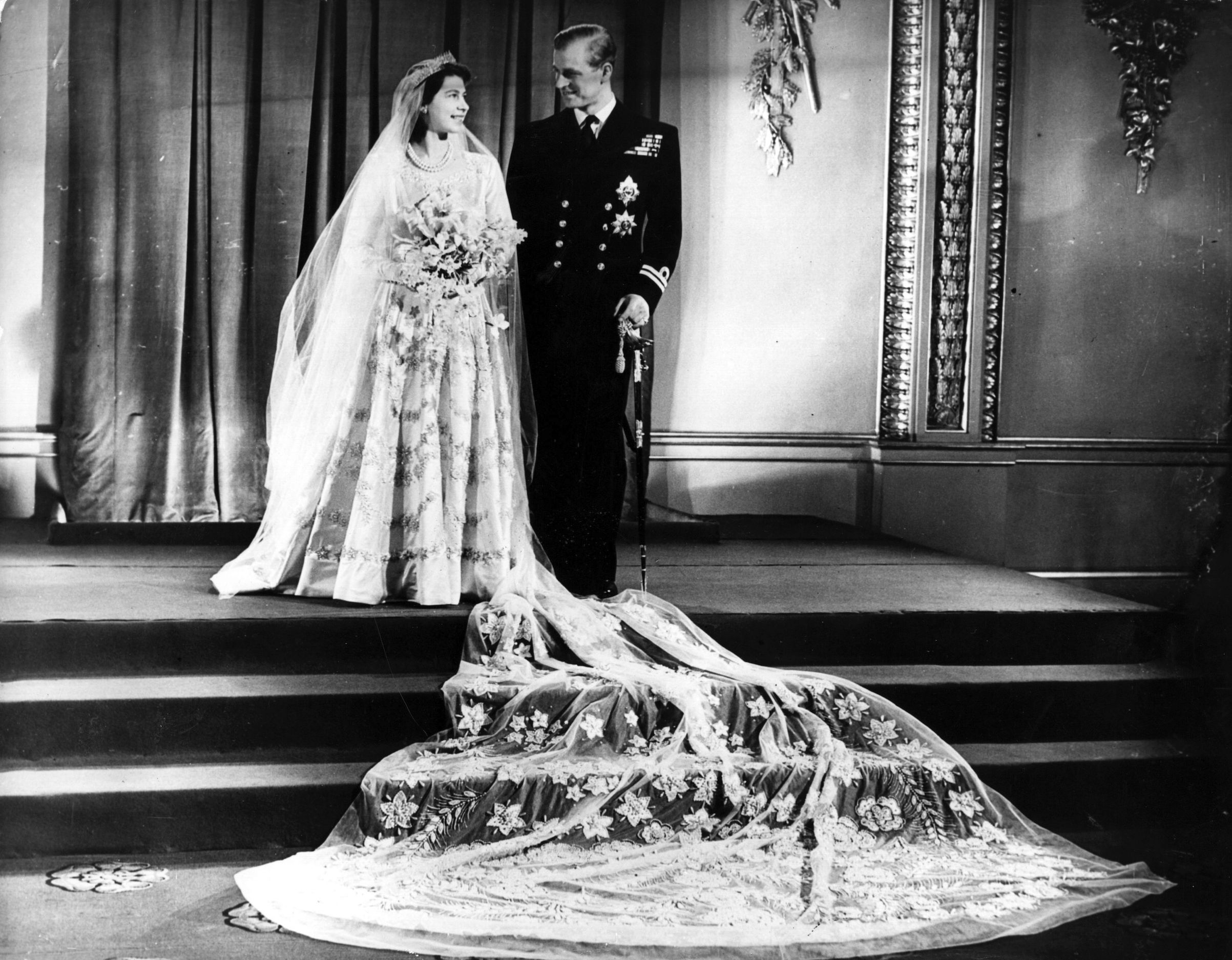 Inside The Making Of Queen Elizabeth S Wedding Dress Time