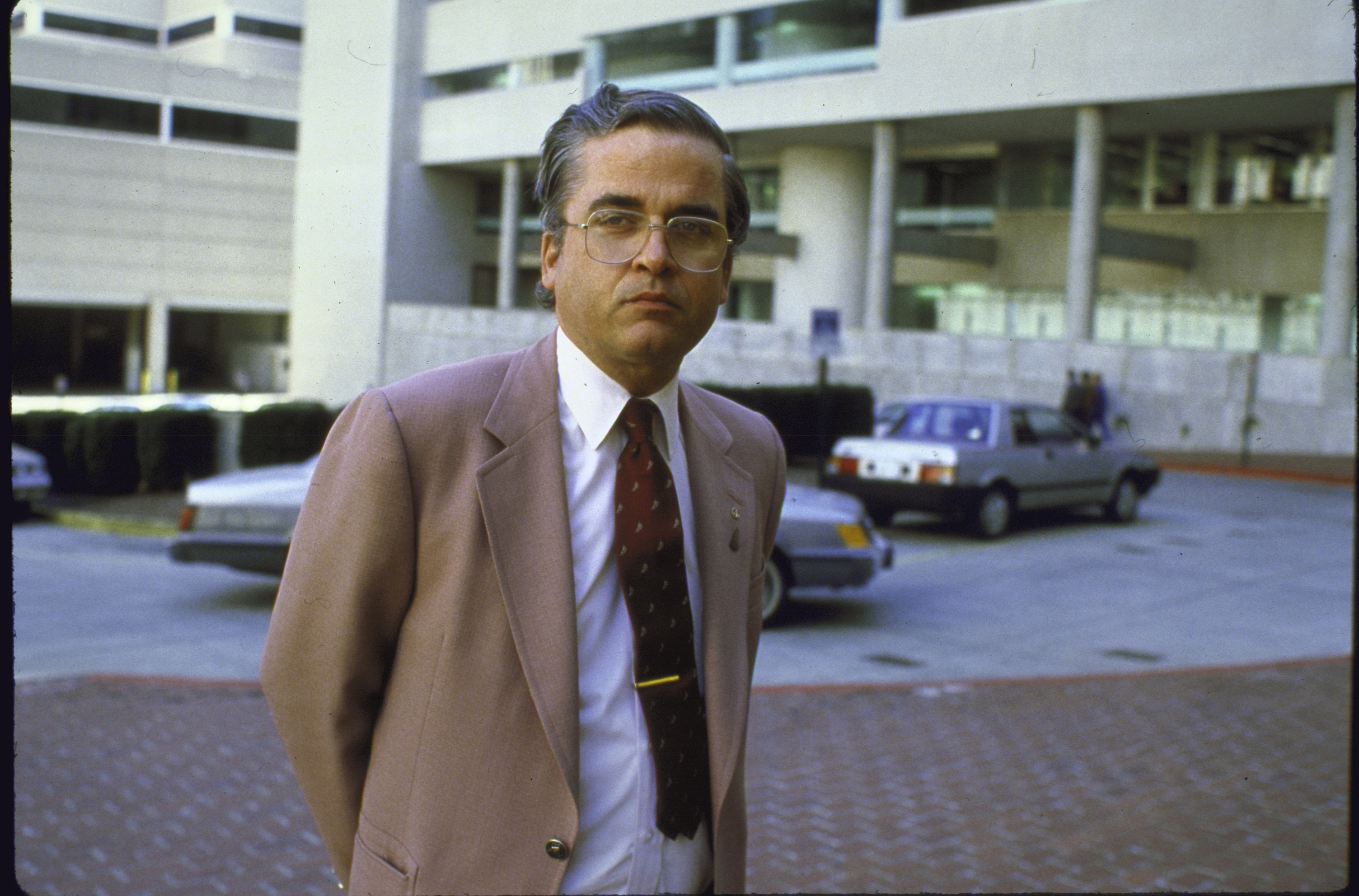 This 1985 file photo shows Samuel Loring Morison, after he was found guilty under Espionage Act of selling photos to Jane's Defense Weekly.