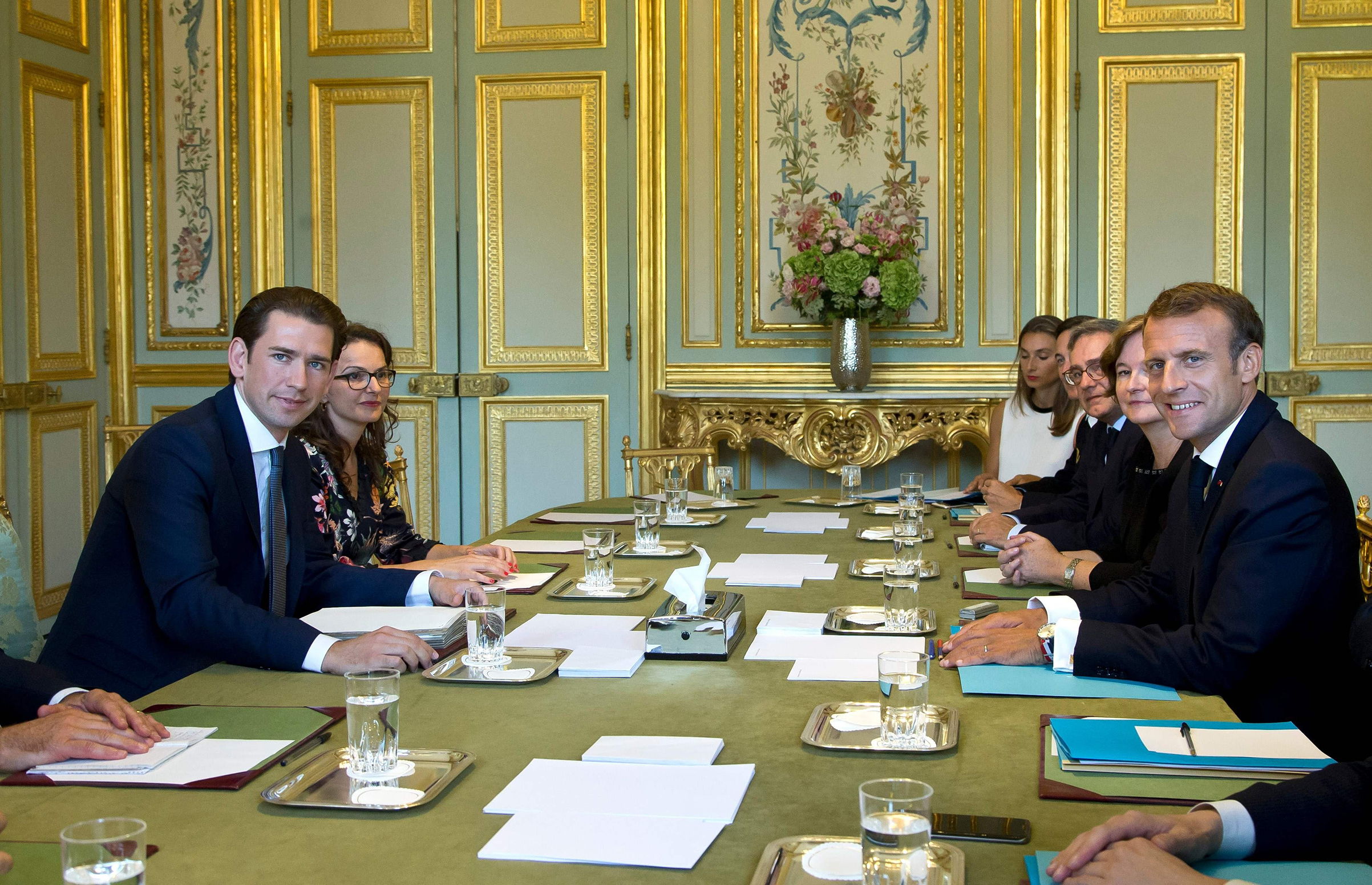 Kurz meets with Macron in Paris in September, days before a summit in part devoted to the issue of migration. While Macron has sought to isolate his far-right opponents, Kurz chose to bring them into his government