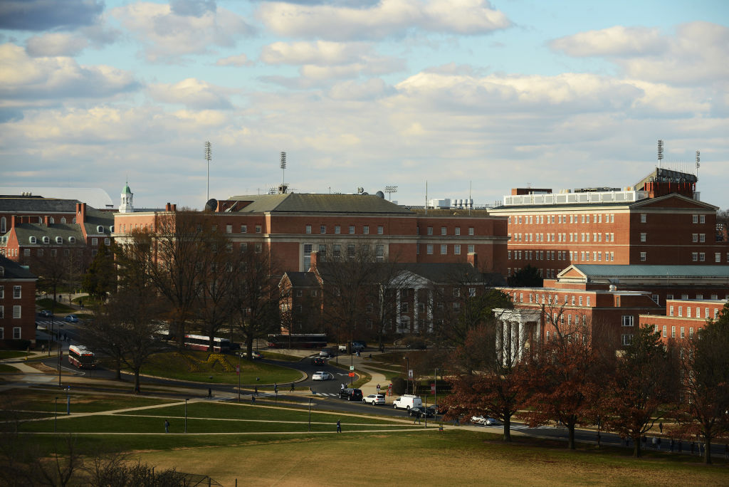 The campus of the University of Maryland. Olivia Paregol attended the school as freshman.