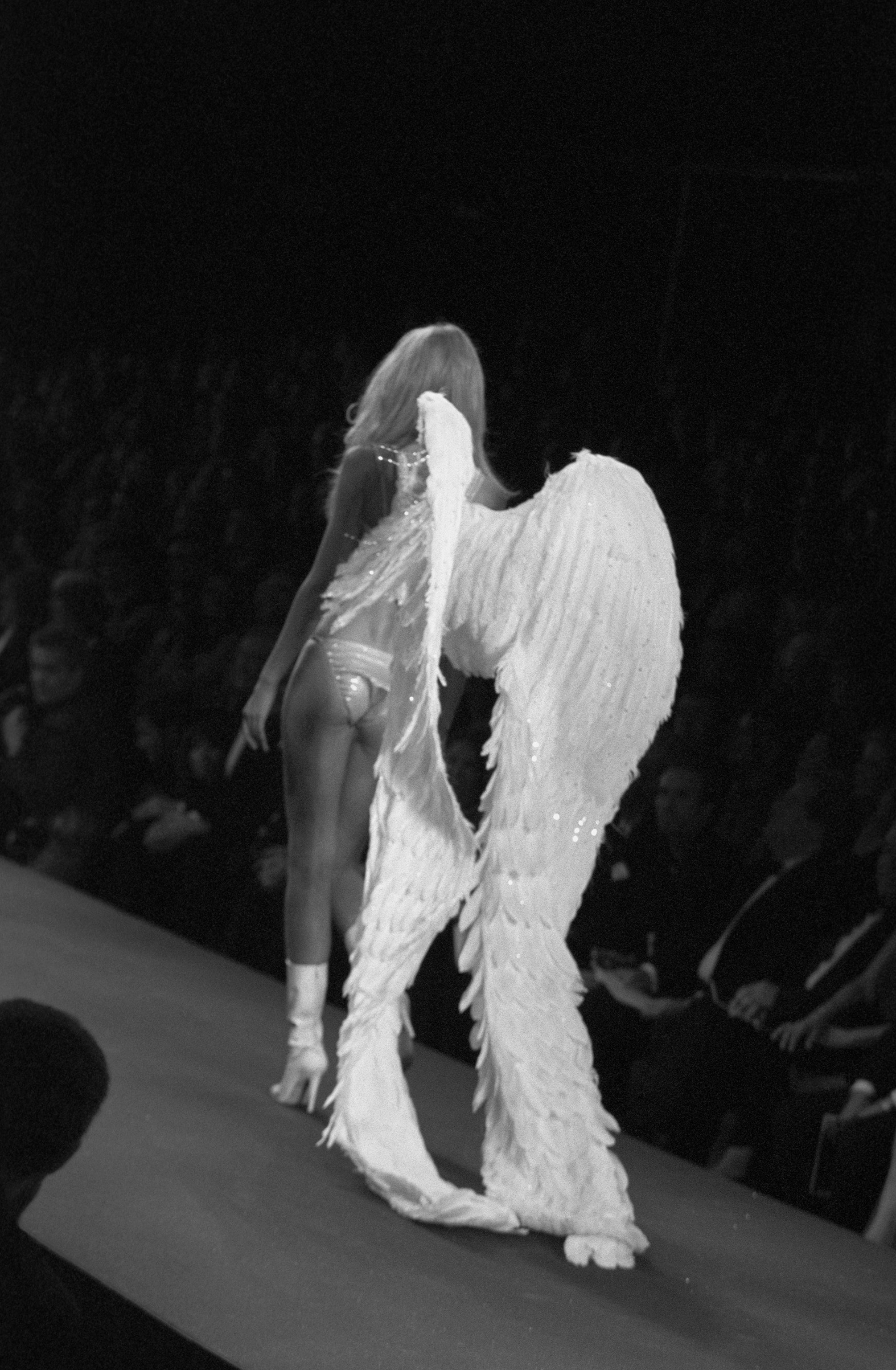 Supermodel and Victoria's Secret Angel Heidi Klum walks the brand's renowned fashion show in Cannes, France, in 2000