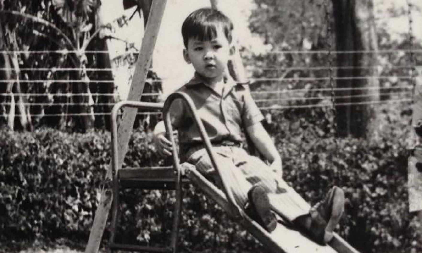 Nguyen as a child in Ban Me Thuot, circa 1974