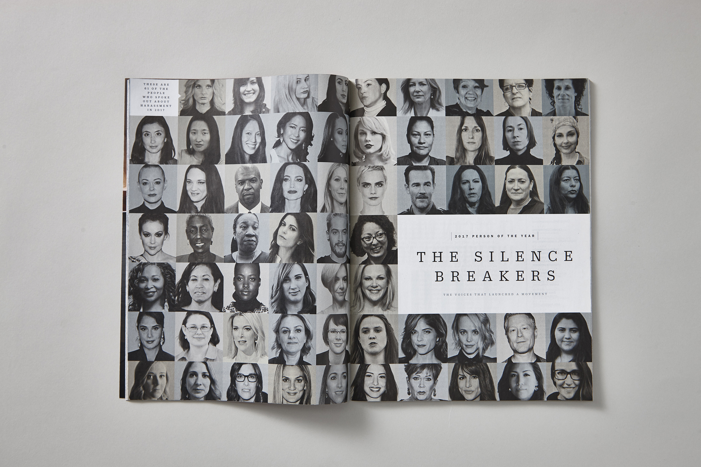 TIME's 2017 Person of the Year was the Silence Breakers, a group of people spanning several industries who spoke out against sexual harassment at work