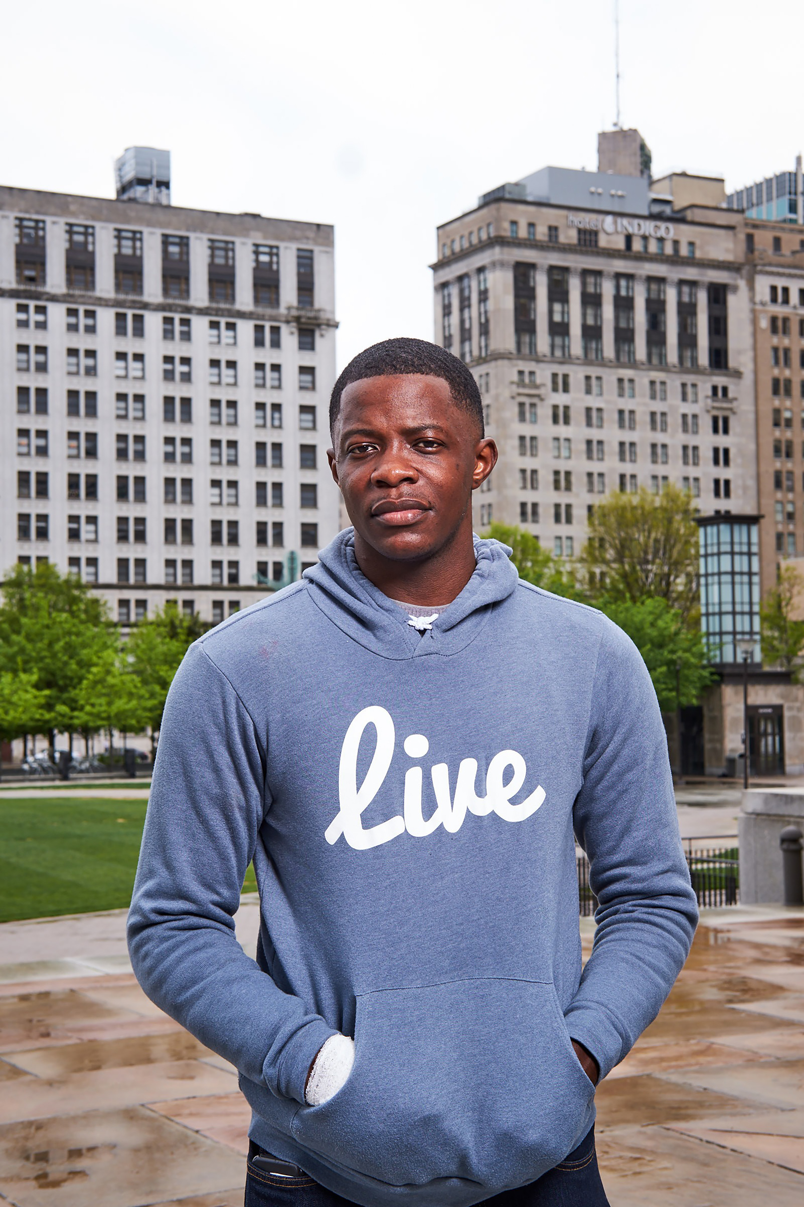 James Shaw Jr., who disarmed the man who opened fire at a Waffle House Sunday morning, in Nashville on April 23, 2018.