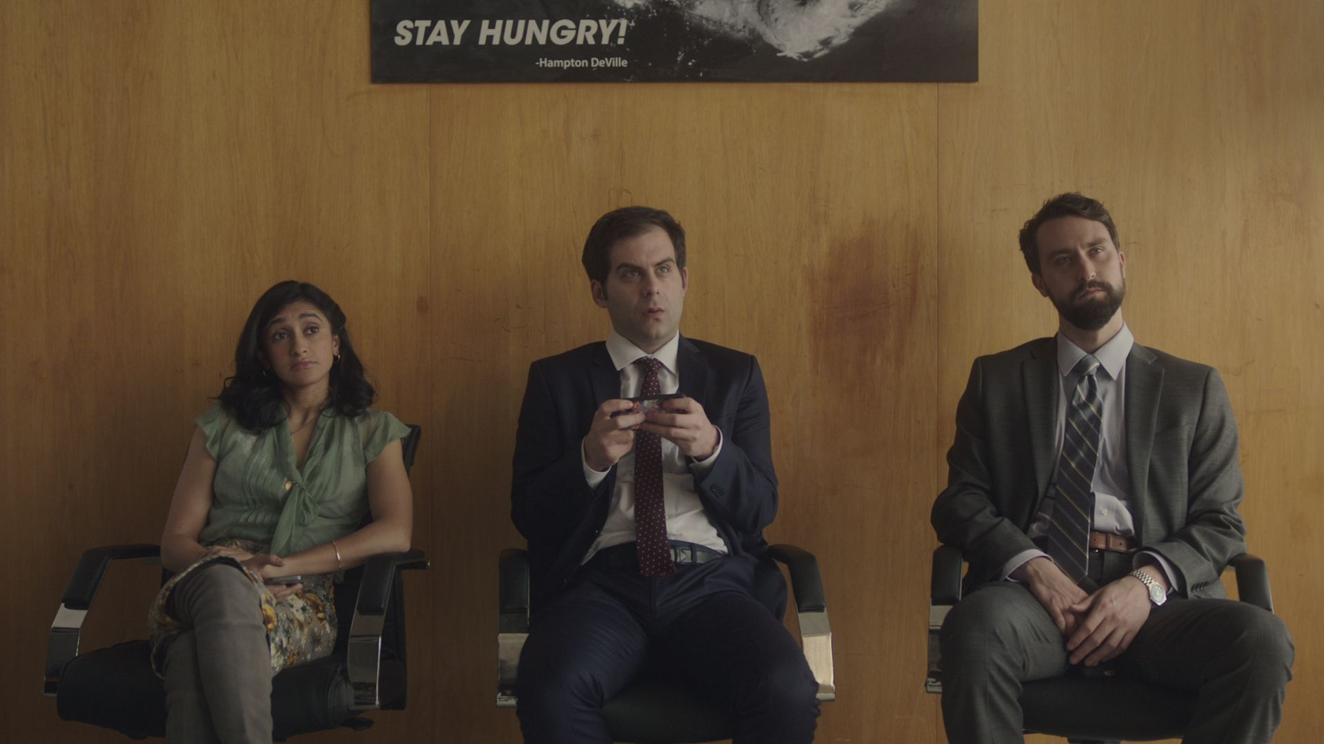 Nancherla, Weisman and Ingebretson in 'Corporate'