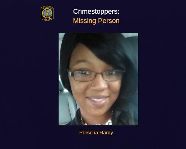 Porscha LeAnne Hardy was last seen on Dec. 15