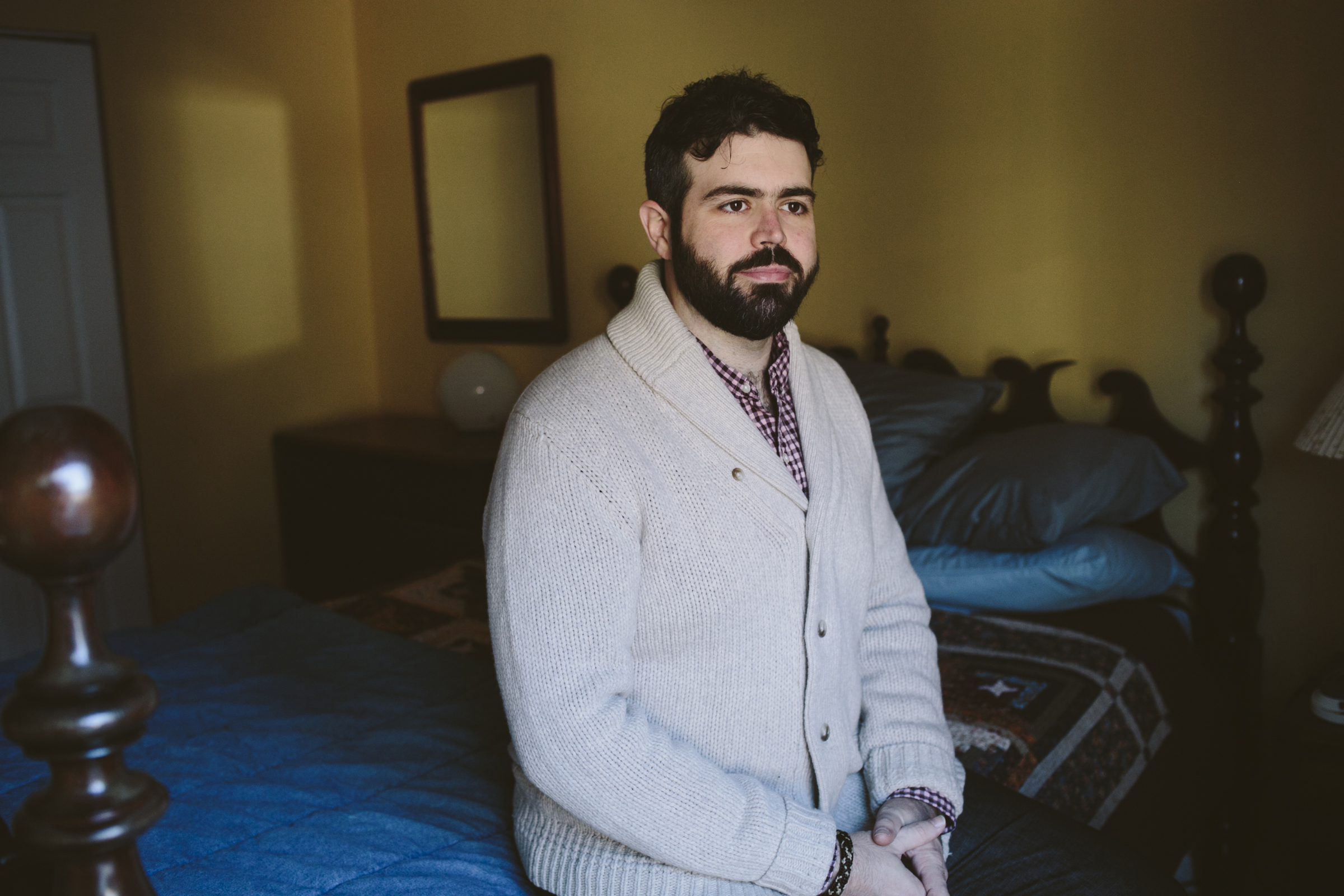 Enbrel, an arthritis medication, helps Kip Burgess get out of the bed in the morning, but the high monthly cost forced him this year to raid his savings to meet his deductible. (Kristen Norman for KHN)