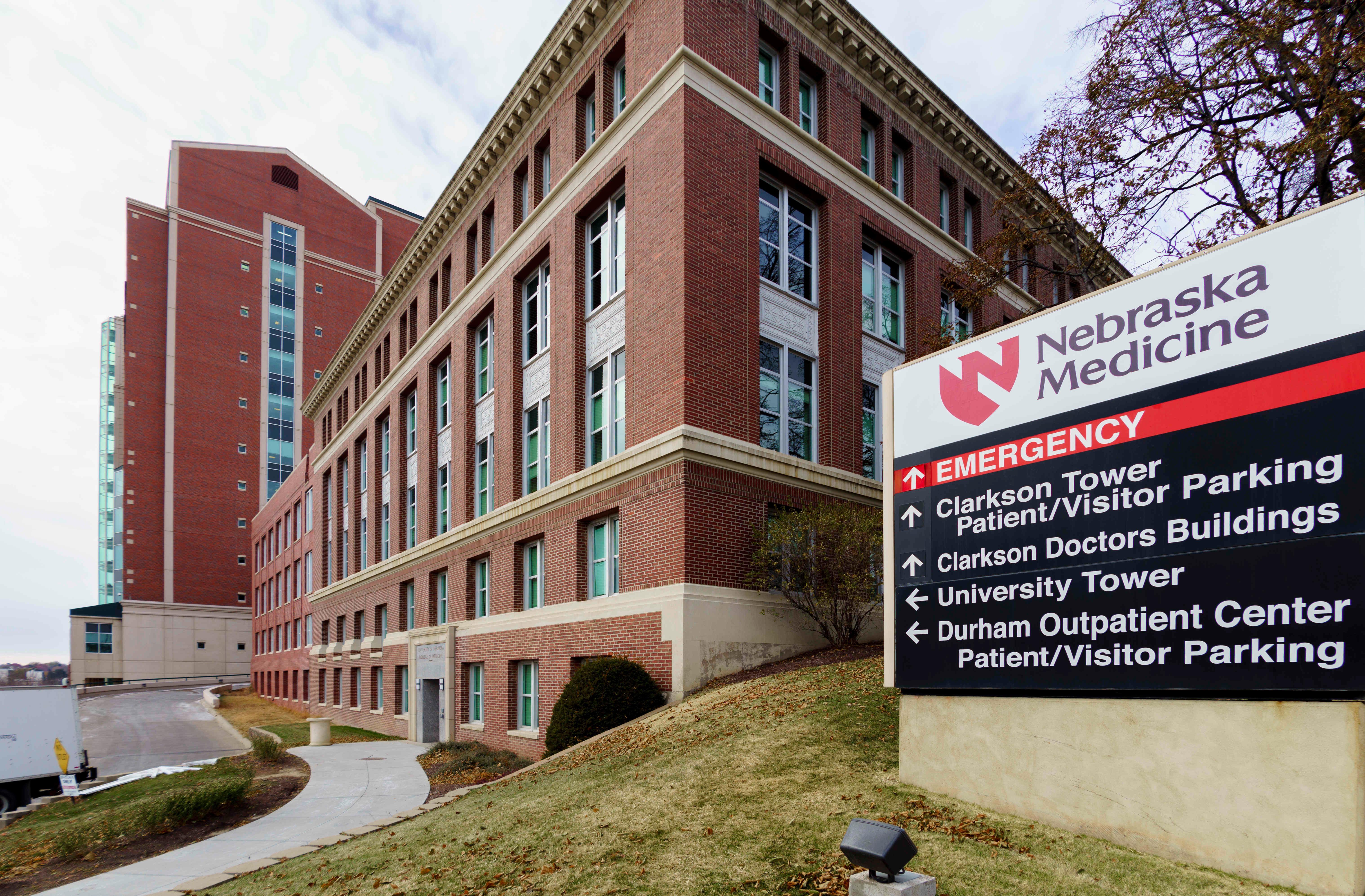 This photo shows the Nebraska Medical Center is Omaha, Neb. on Nov. 14, 2014.