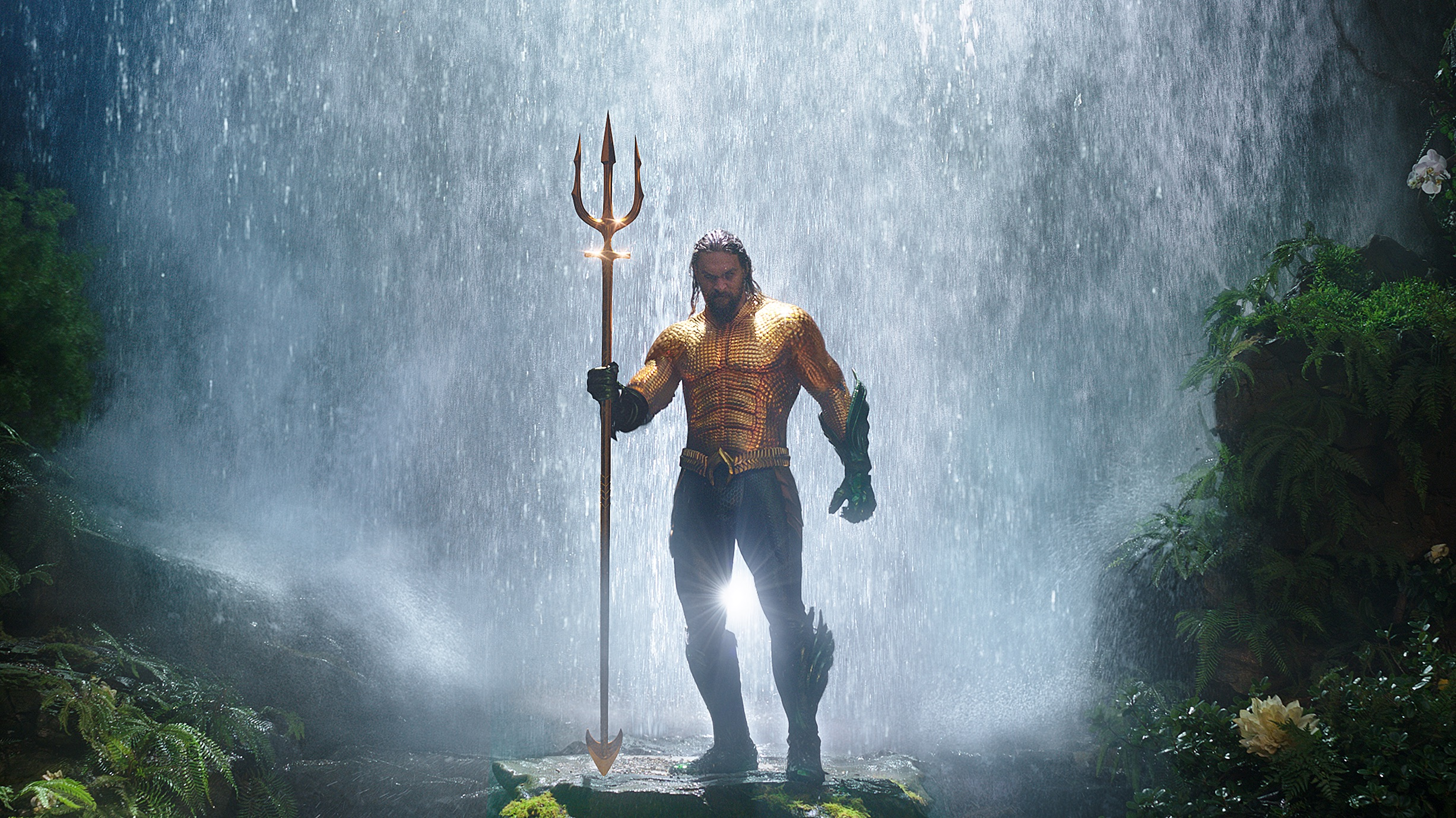 Jason Momoa as Aquaman in  Aquaman.