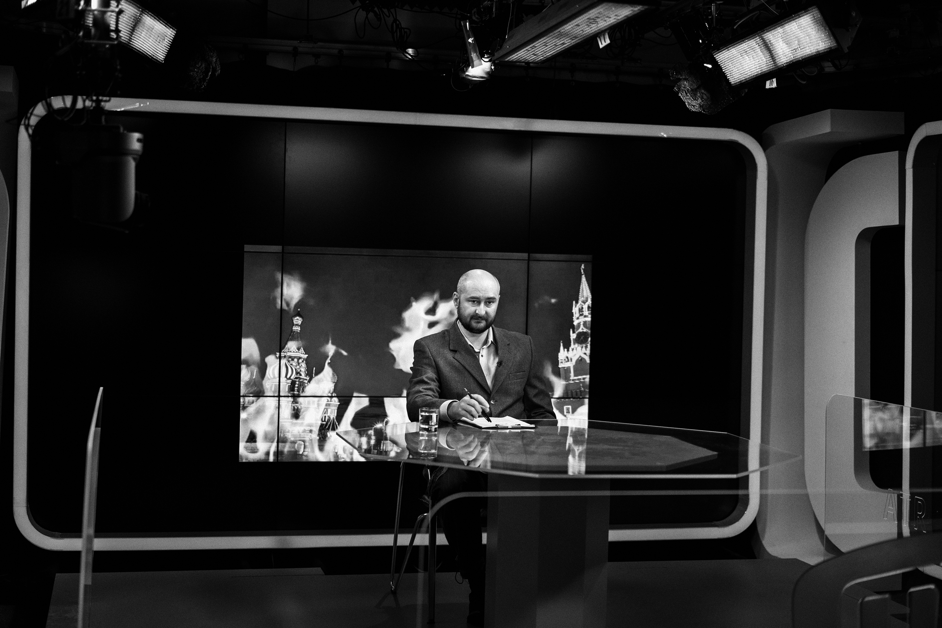 Arkady Babchenko spent years as a Russian war correspondent, leaving for Kiev in 2017 after his criticism of the Kremlin led to threats against him. Last spring, when Ukraine's intelligence agency warned of a plot to assassinate him, he faked his own death in a sting operation designed to catch the people paying for the murders—a controversial move in the journalism world.