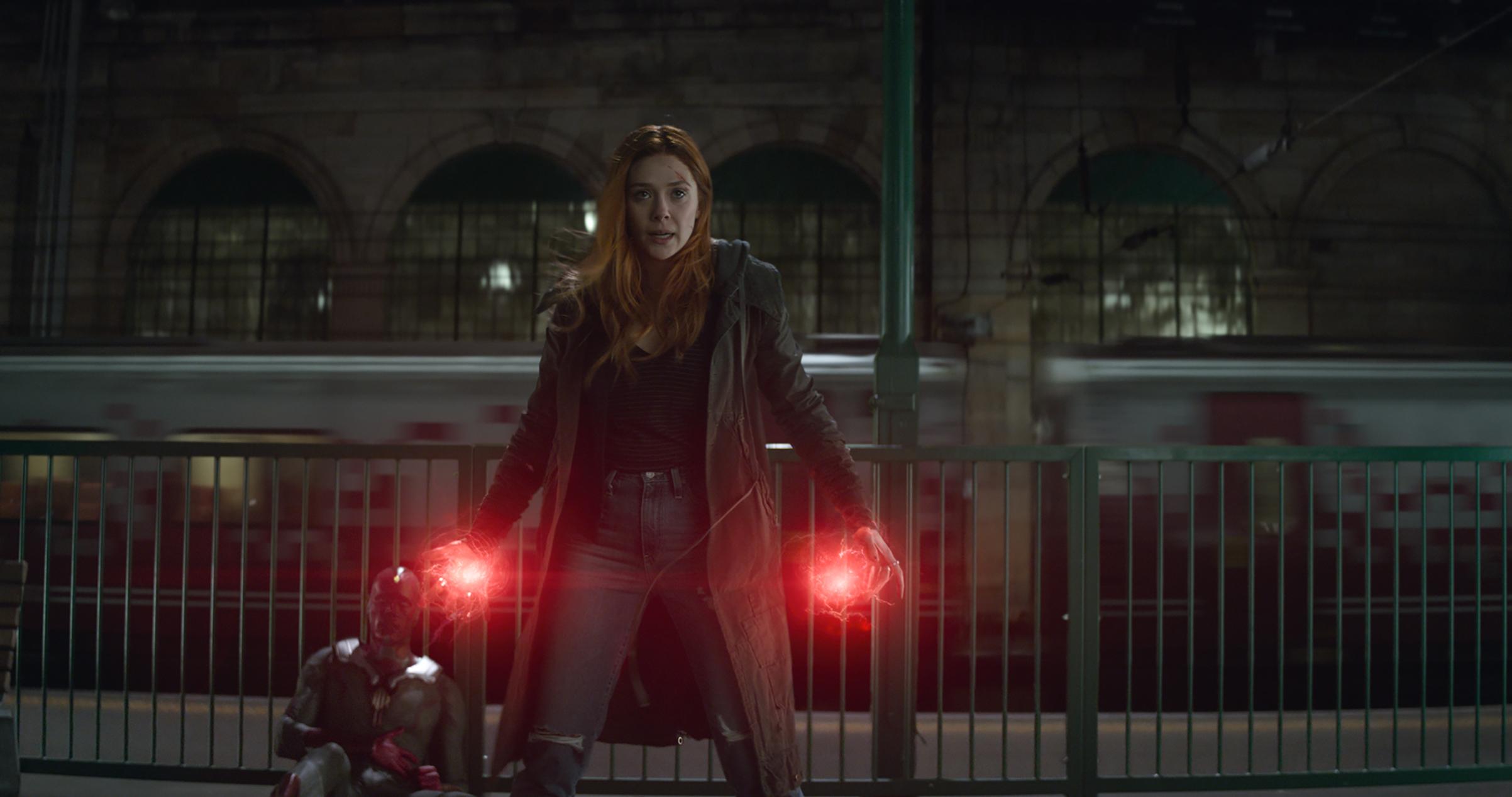 Elizabeth Olsen as Scarlet Witch in  Avengers: Infinity War