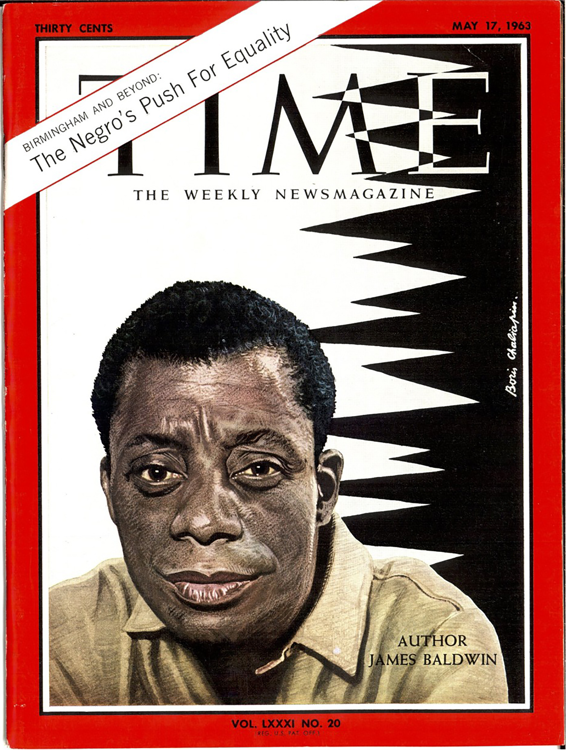 Baldwin graced the cover of TIME in May 1963 after the publication of his widely read essay on race in America