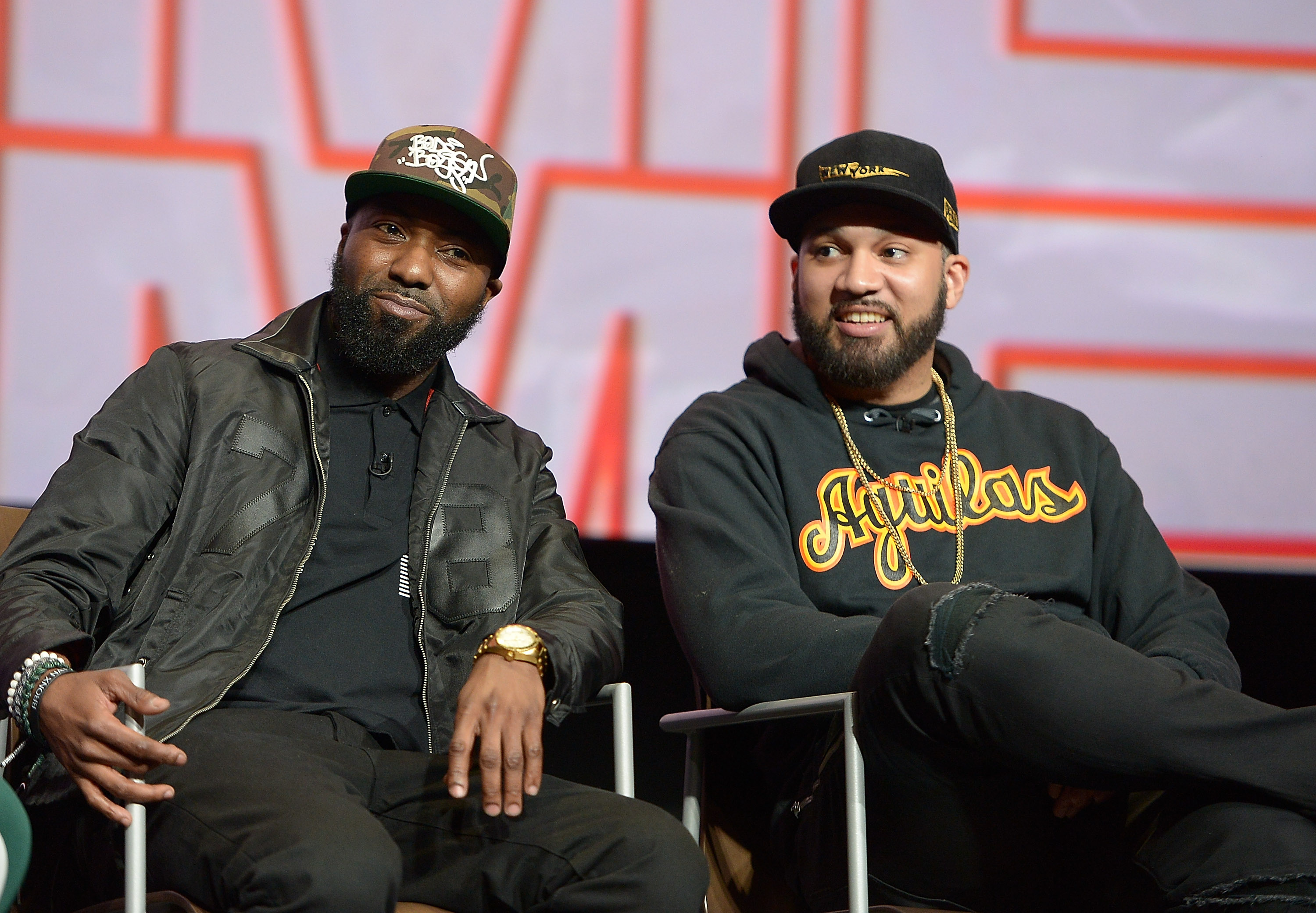 Desus Nice and The Kid Mero participate in a q&a at the FYC Event for VICELAND's DESUS & MERO at Saban Media Center on April 20, 2018 in North Hollywood, California.