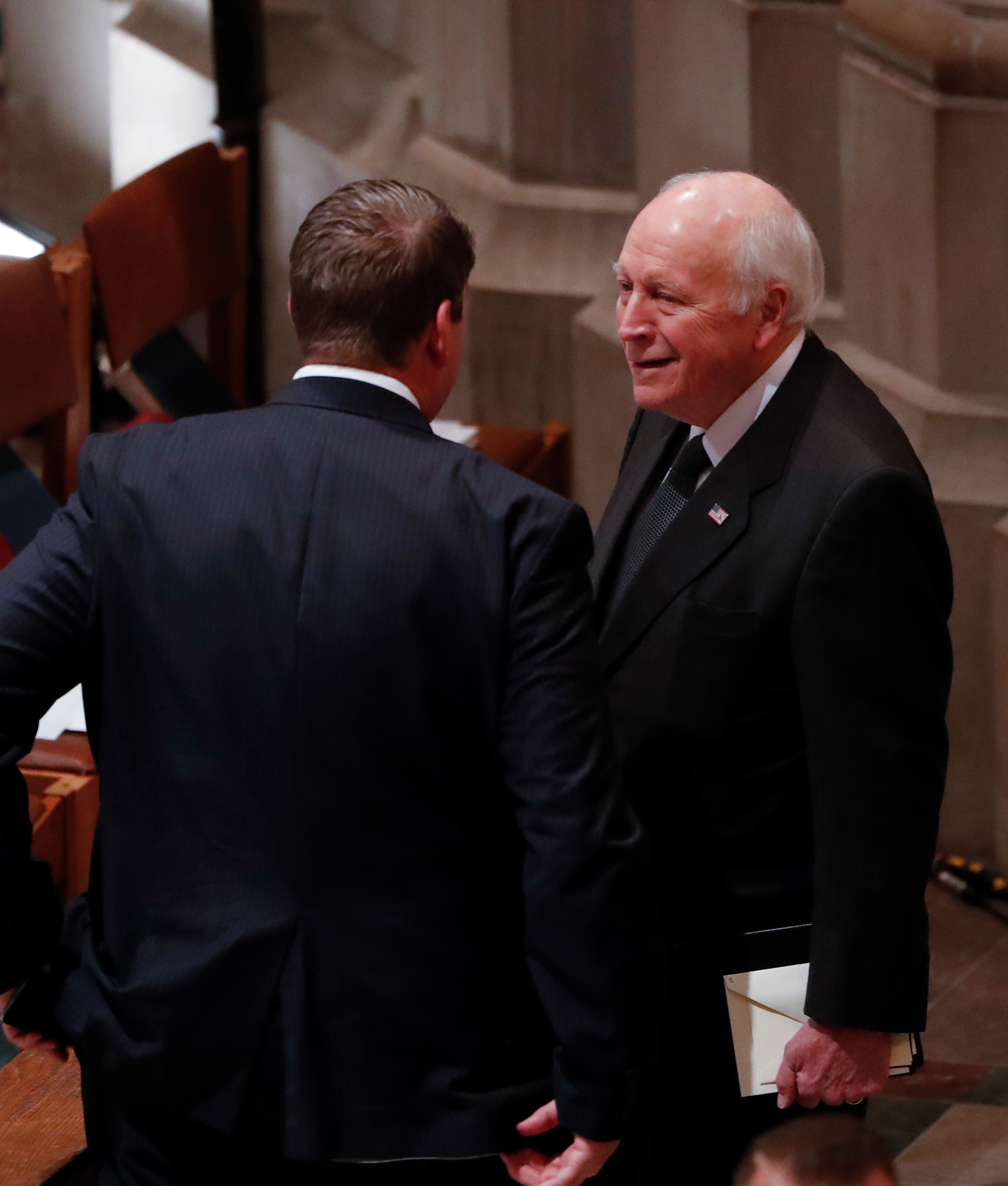 Former United States Vice President Dick Cheney arrives for the funeral services for former United States President George H. W. Bush at the National Cathedral, in Washington, DC on Dec. 5, 2018.
