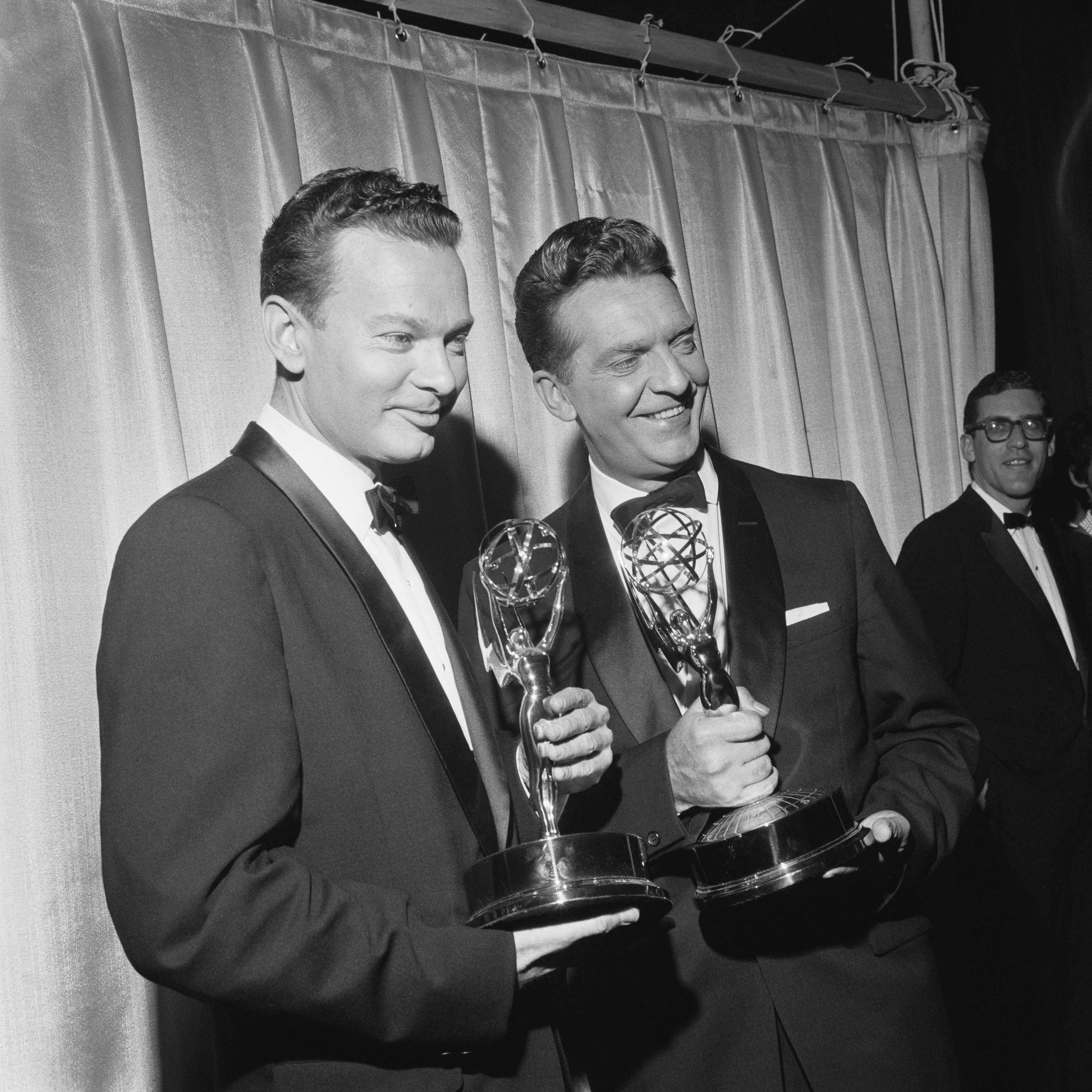 Anchors with awards for The Huntley-Brinkley Report television show (1956-1970).